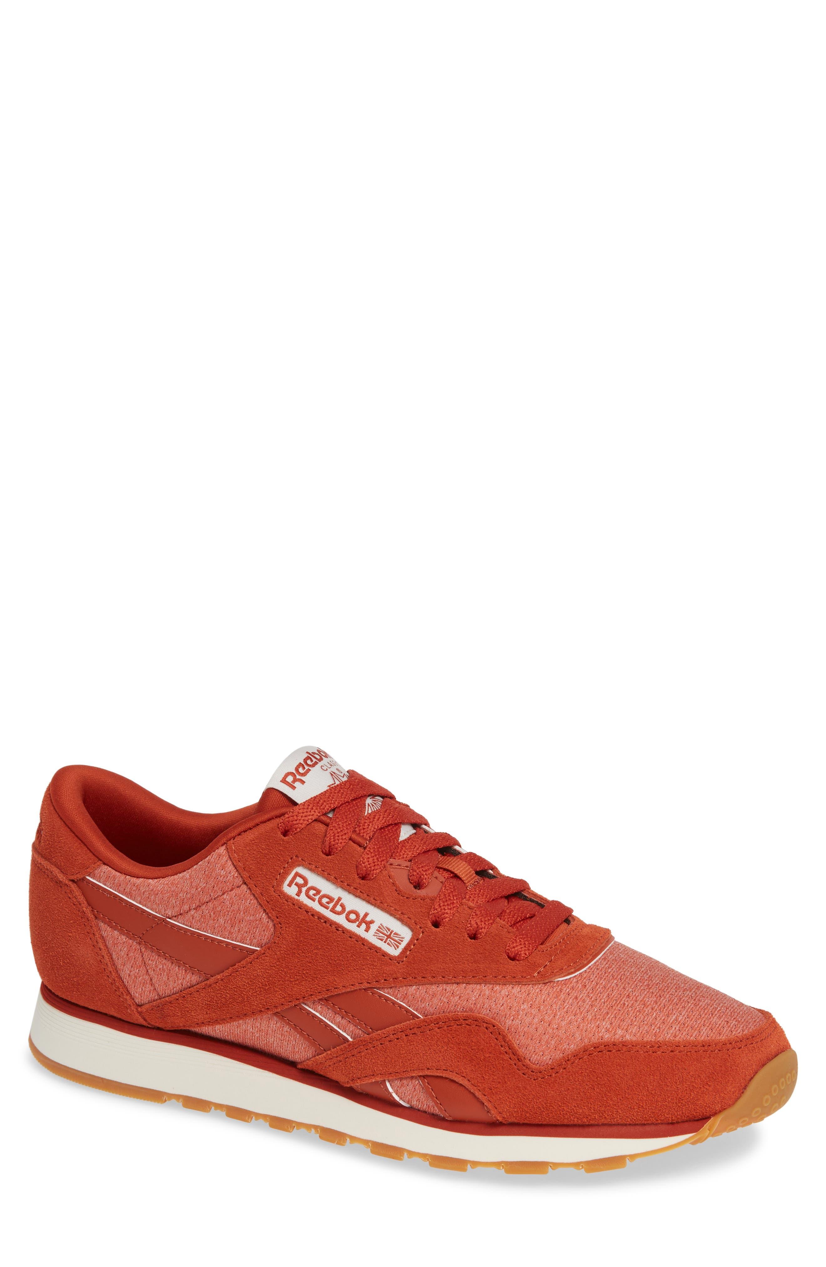 Classic Leather Nylon Sg Sneaker in Burnt Amber/ Chalk
