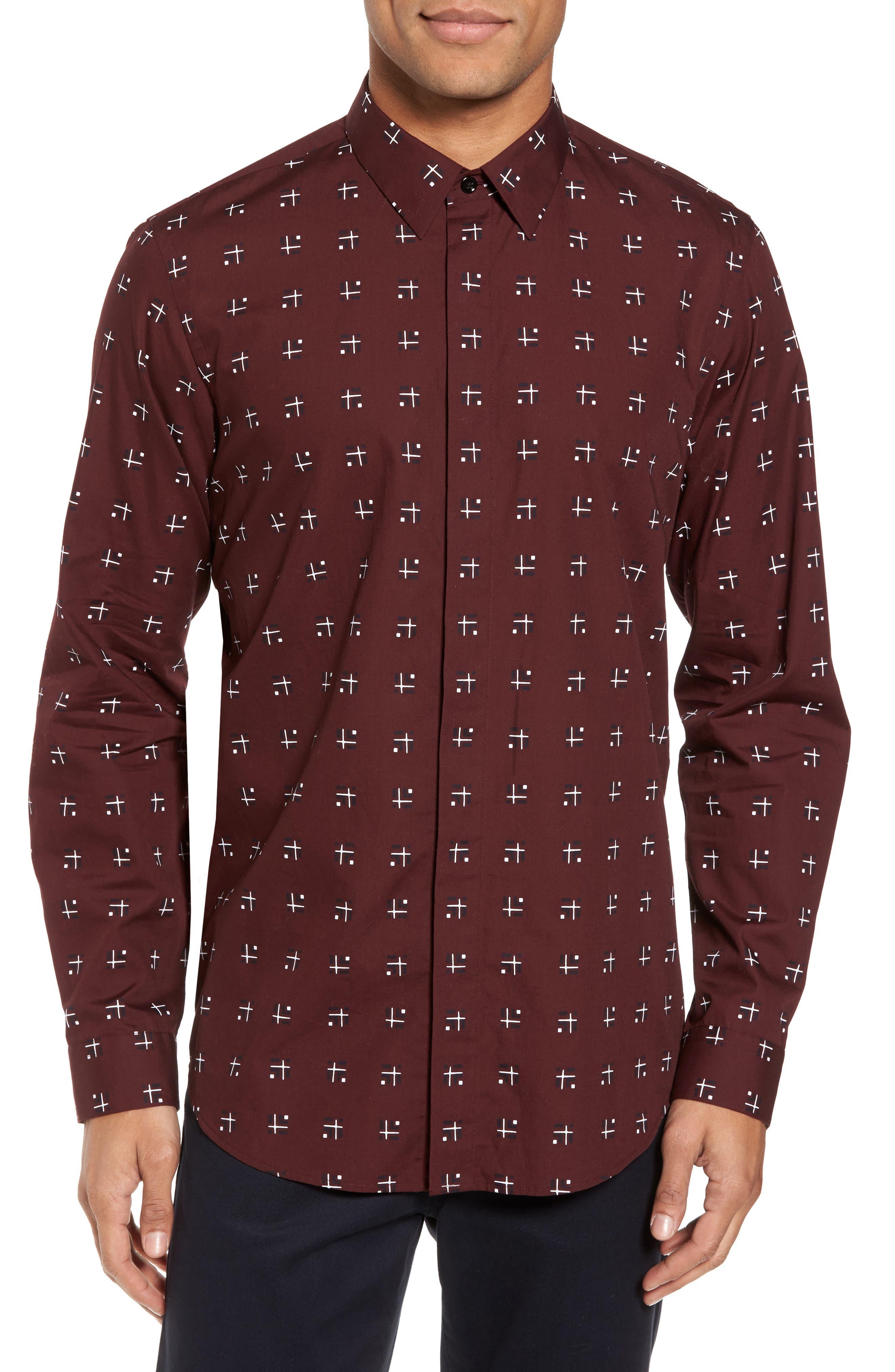 Levy Cross Box Regular Fit Sport Shirt,                             Main thumbnail 2, color,