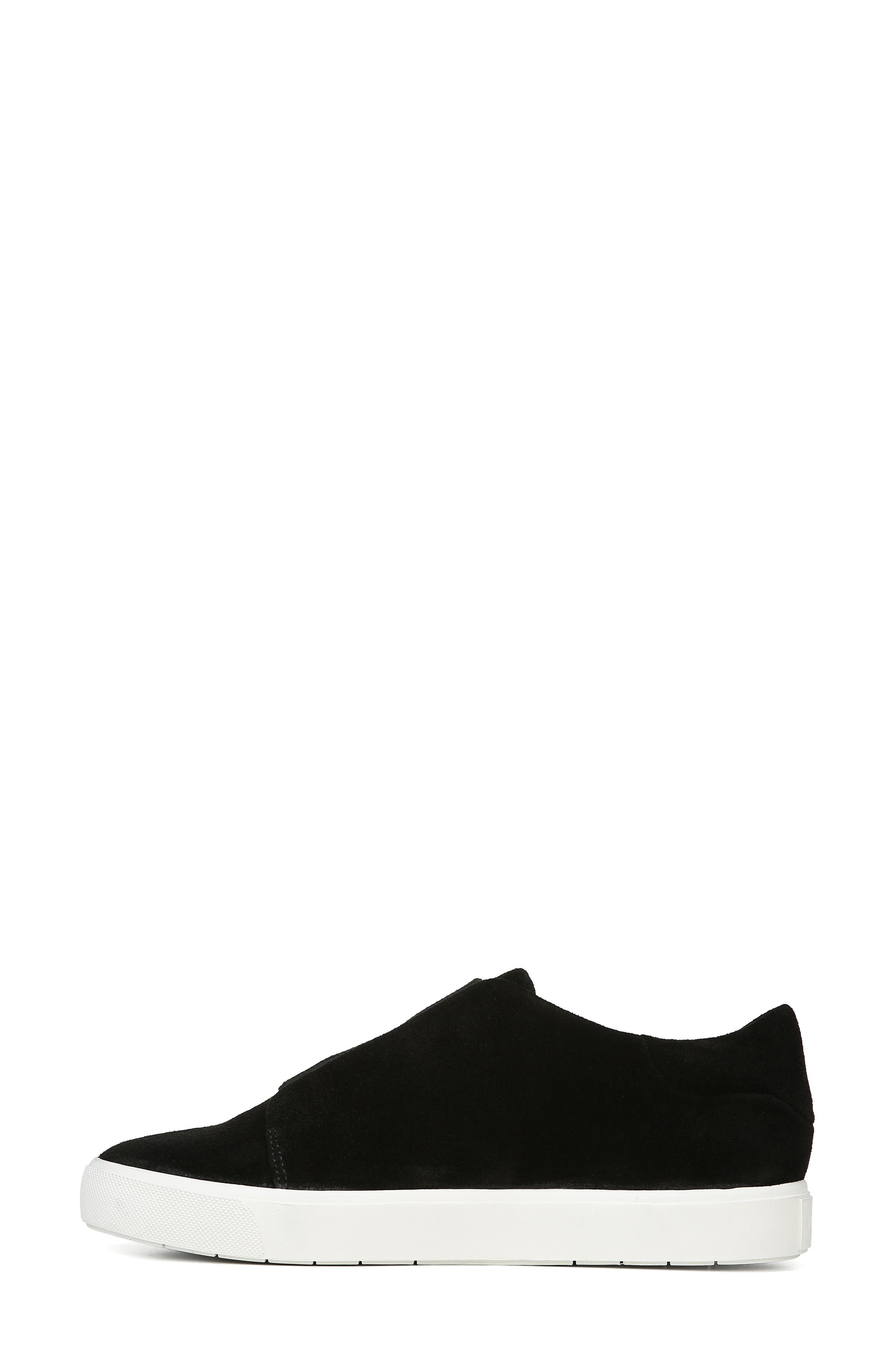 Cantara Slip-On Sneaker,                             Alternate thumbnail 8, color,                             BLACK SUEDE