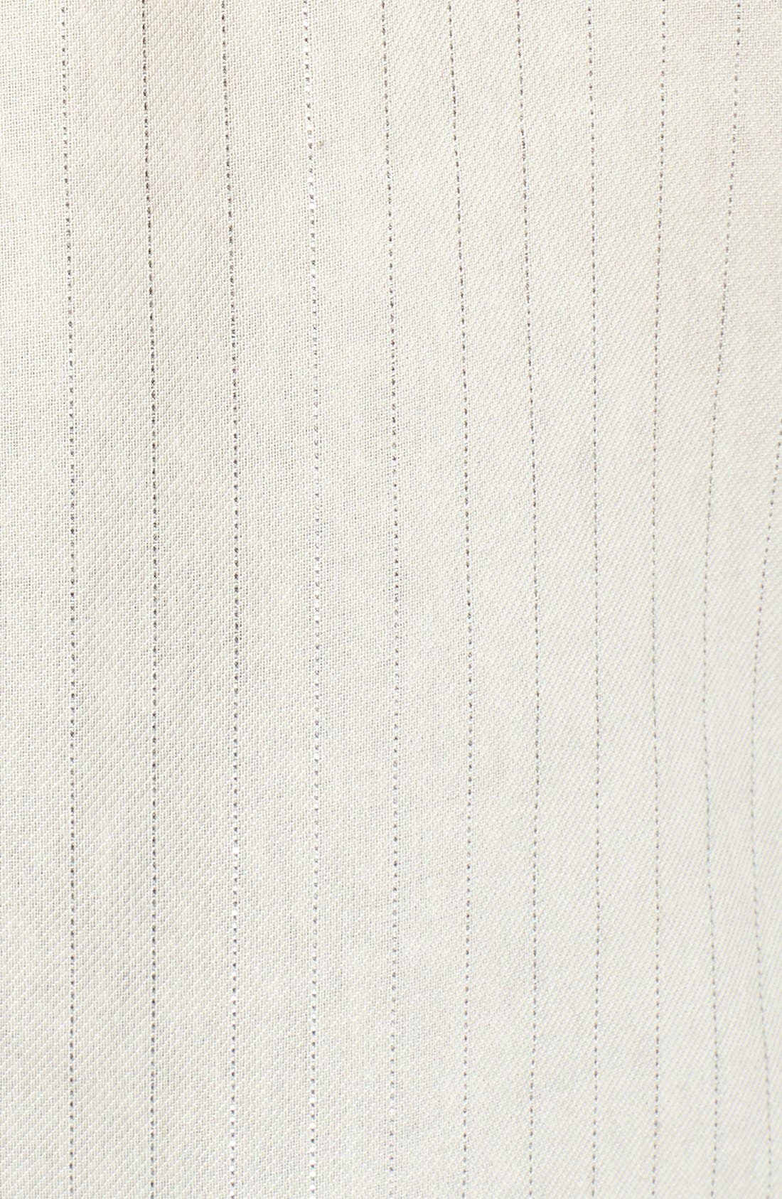 Denim 'Mya' Metallic Stripe Shirt,                             Alternate thumbnail 3, color,                             100
