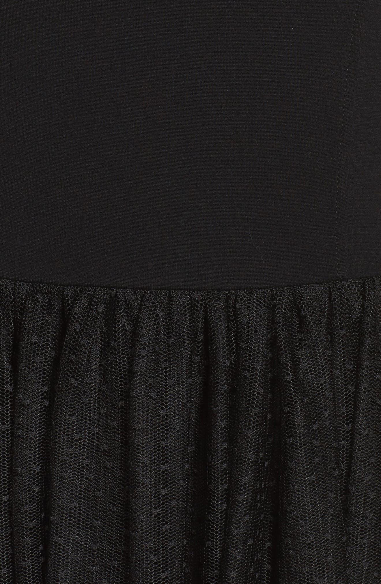 Valentin Off the Shoulder Midi Dress,                             Alternate thumbnail 5, color,                             001