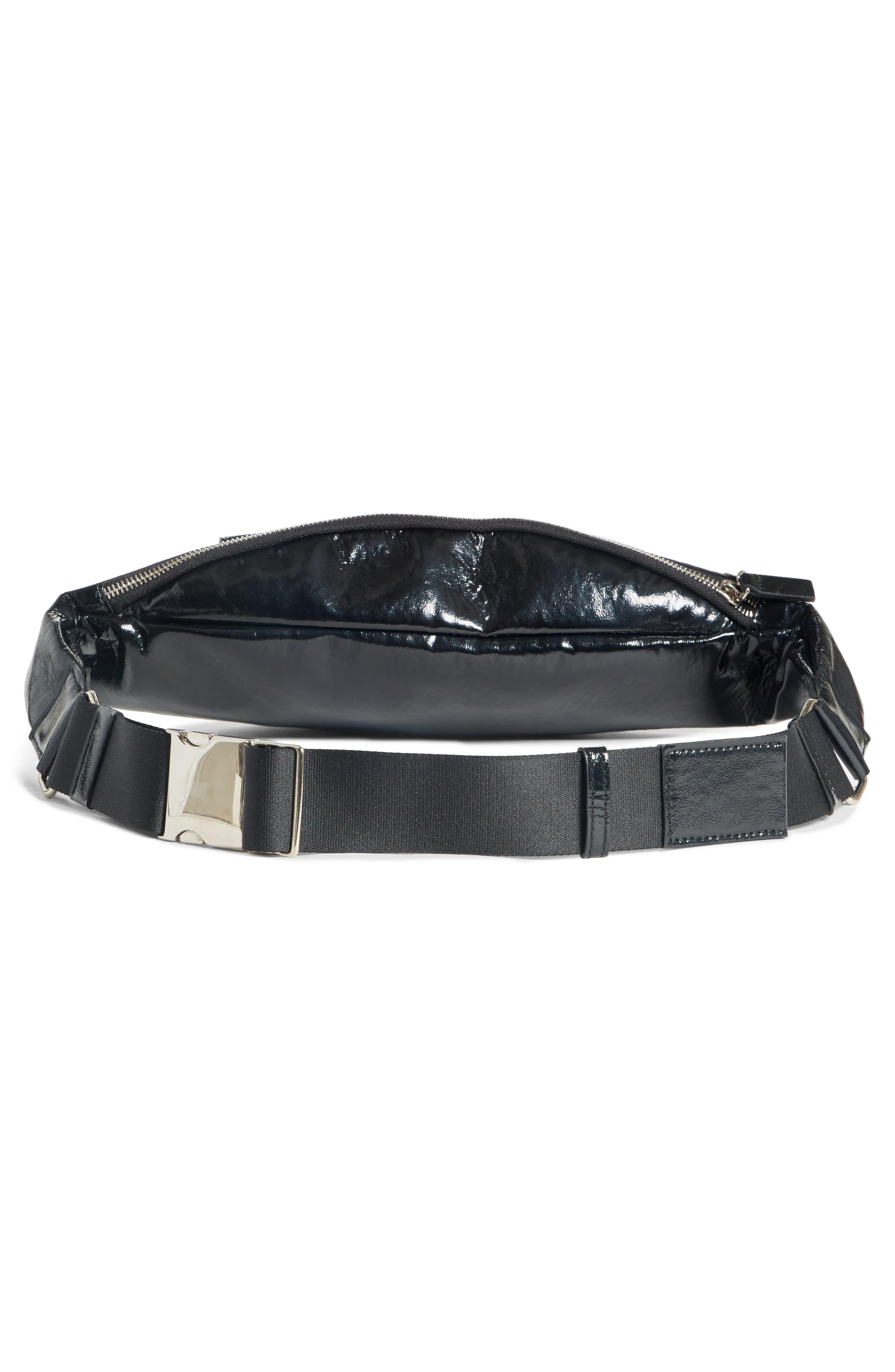 Major Convertible Belt Bag,                             Alternate thumbnail 3, color,                             BLACK PATENT