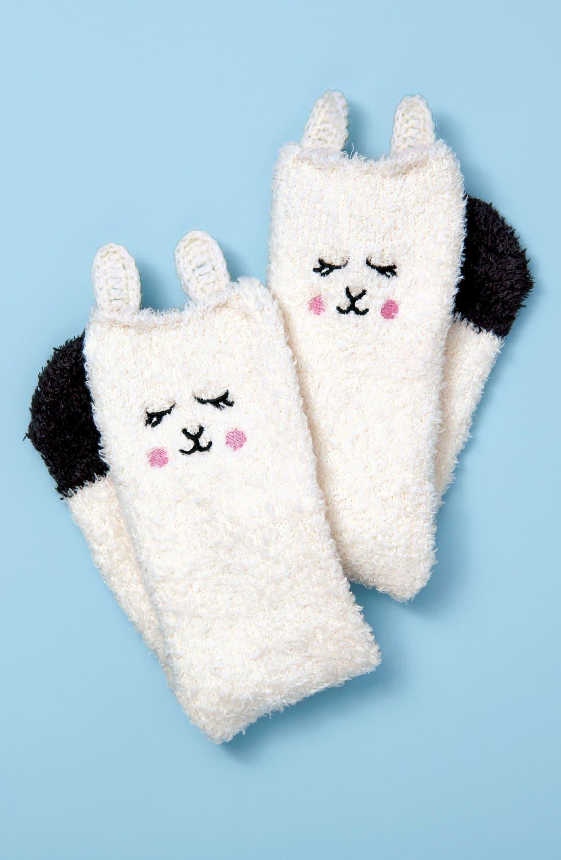 Lamb Plush Socks,                             Alternate thumbnail 4, color,                             105