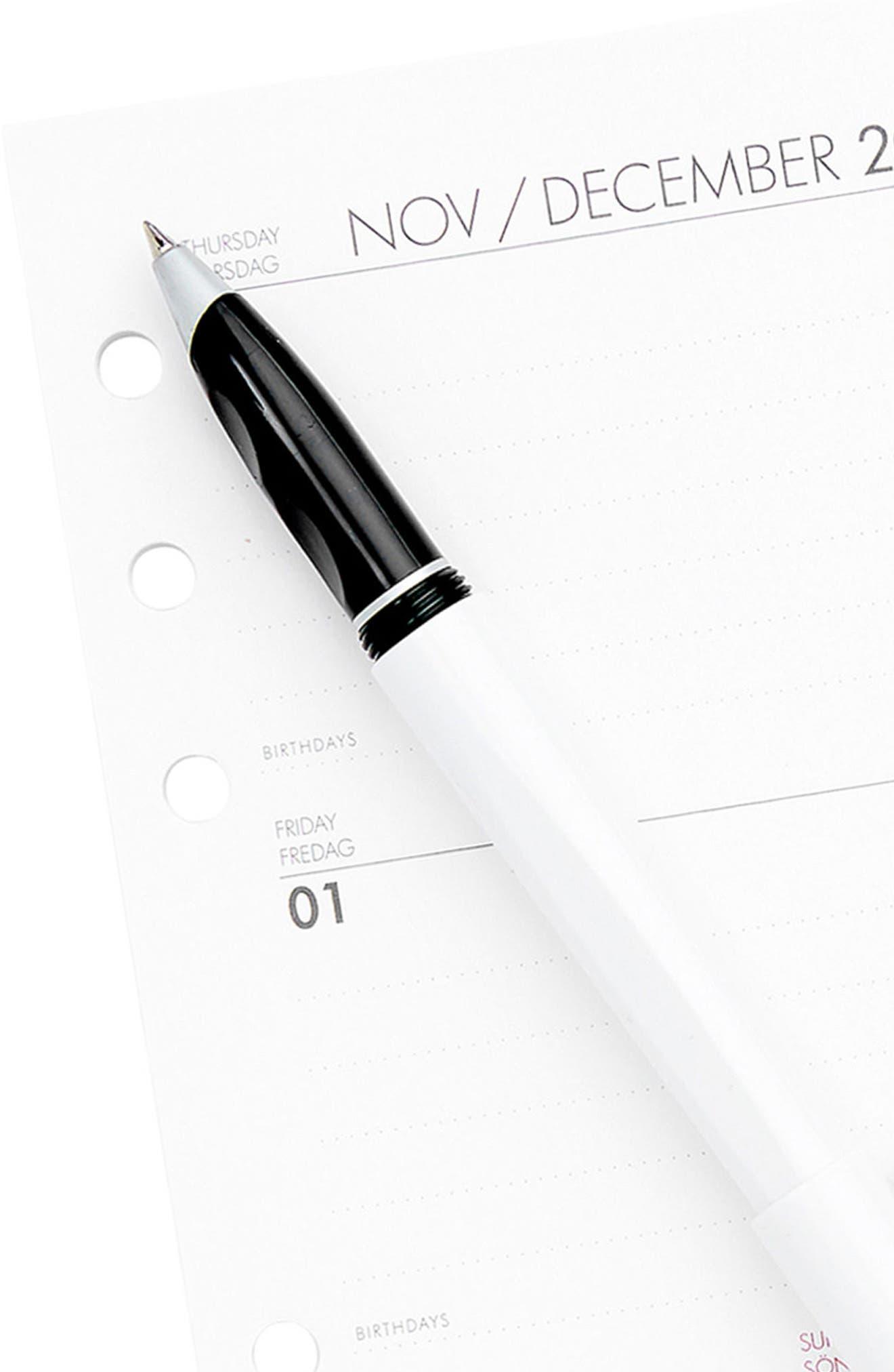 2018 Medium Planner Refill Pack,                             Alternate thumbnail 3, color,                             WHITE