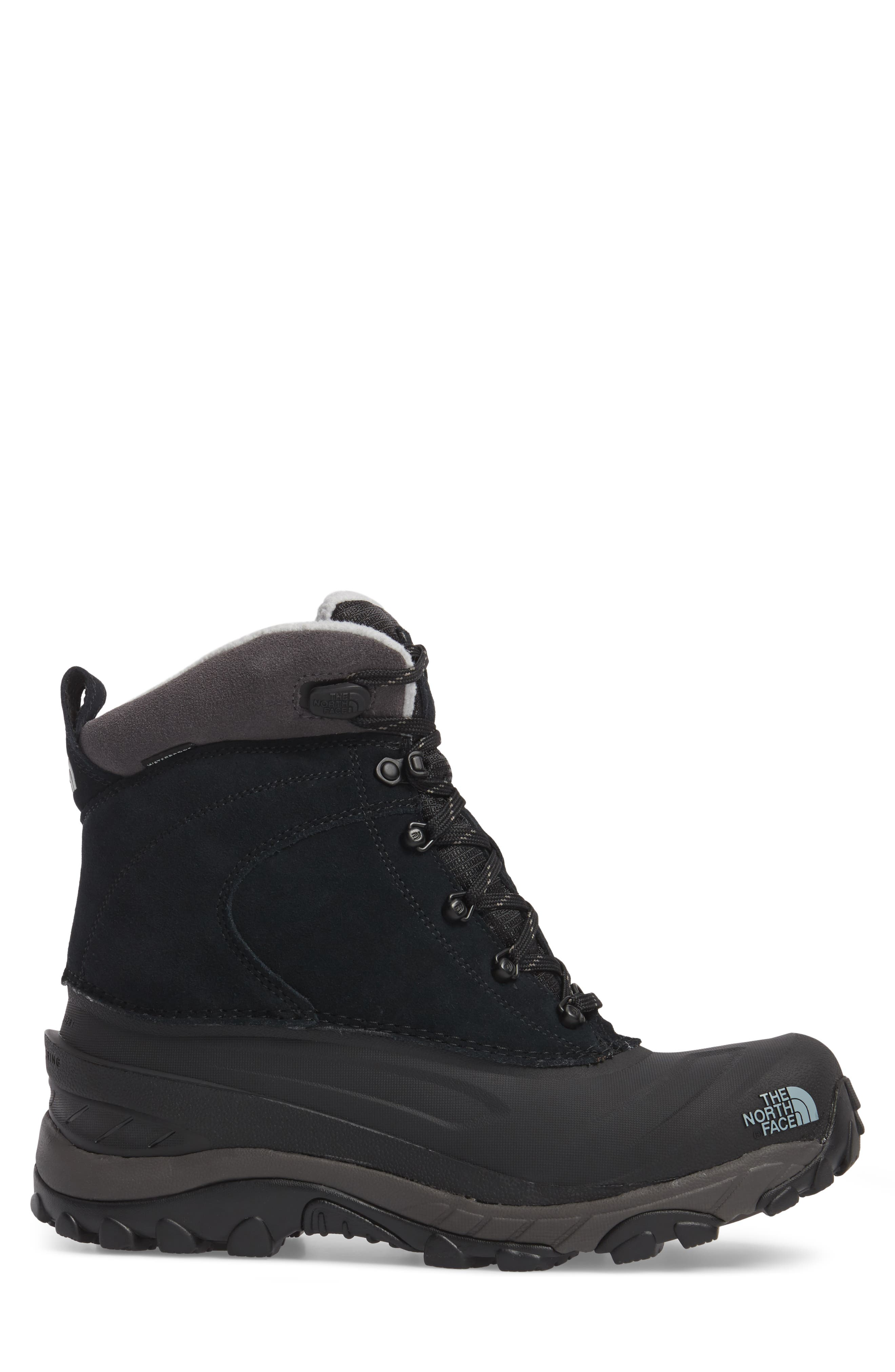 Chilkat III Waterproof Insulated Boot,                             Alternate thumbnail 3, color,                             TNF BLACK