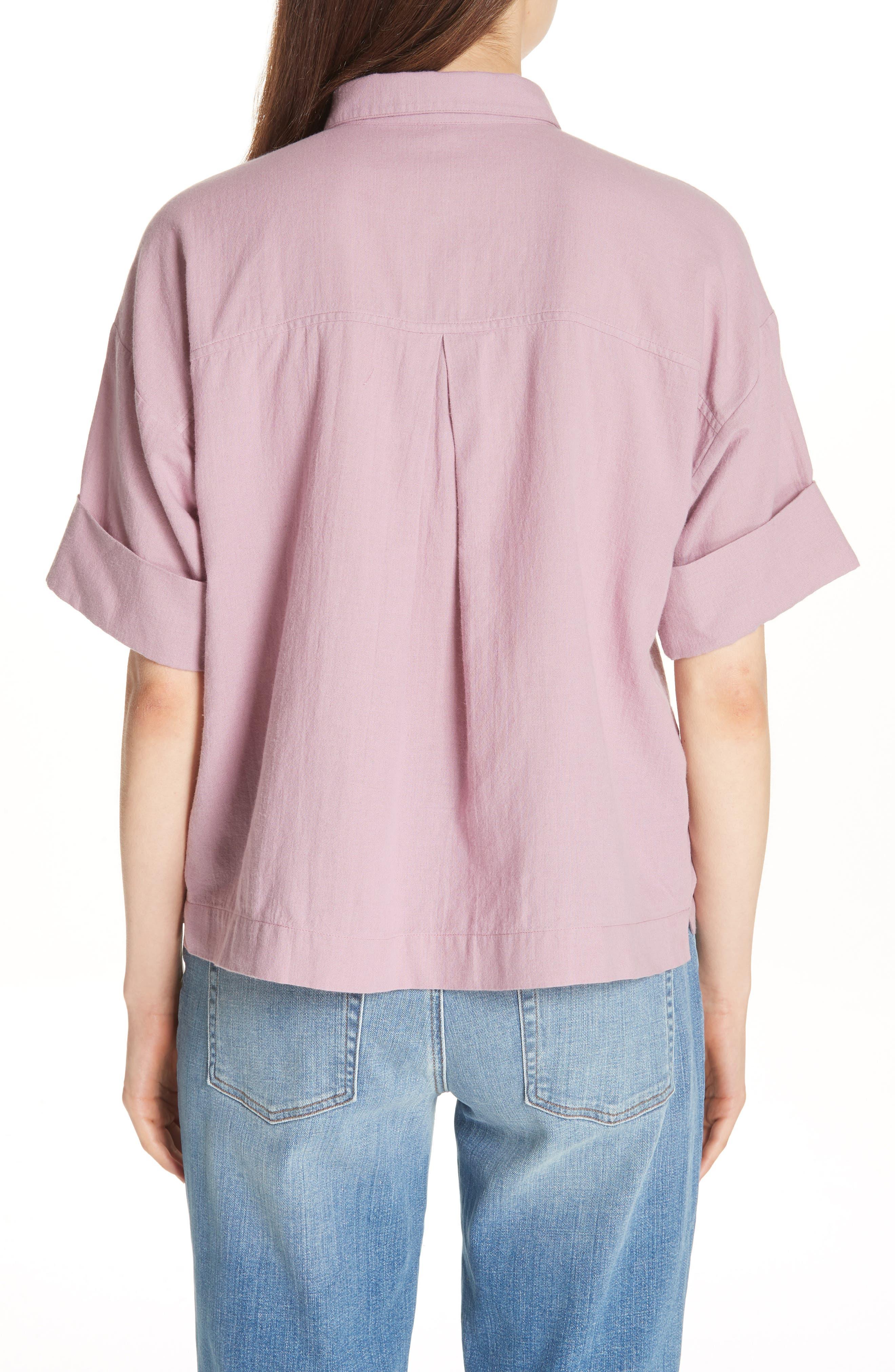 Classic Boxy Shirt,                             Alternate thumbnail 4, color,