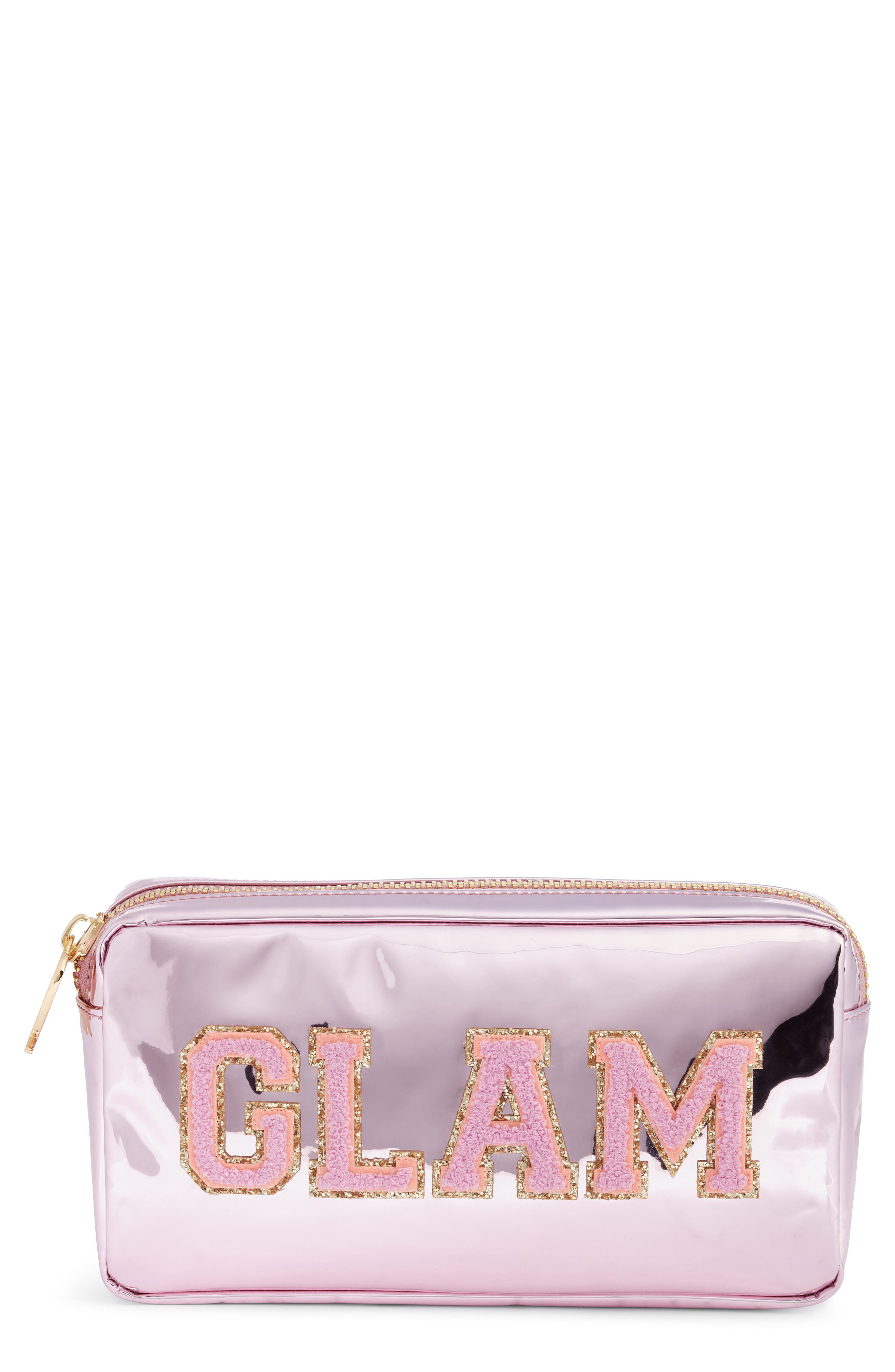 Small Patent Pouch,                             Main thumbnail 1, color,                             PINK