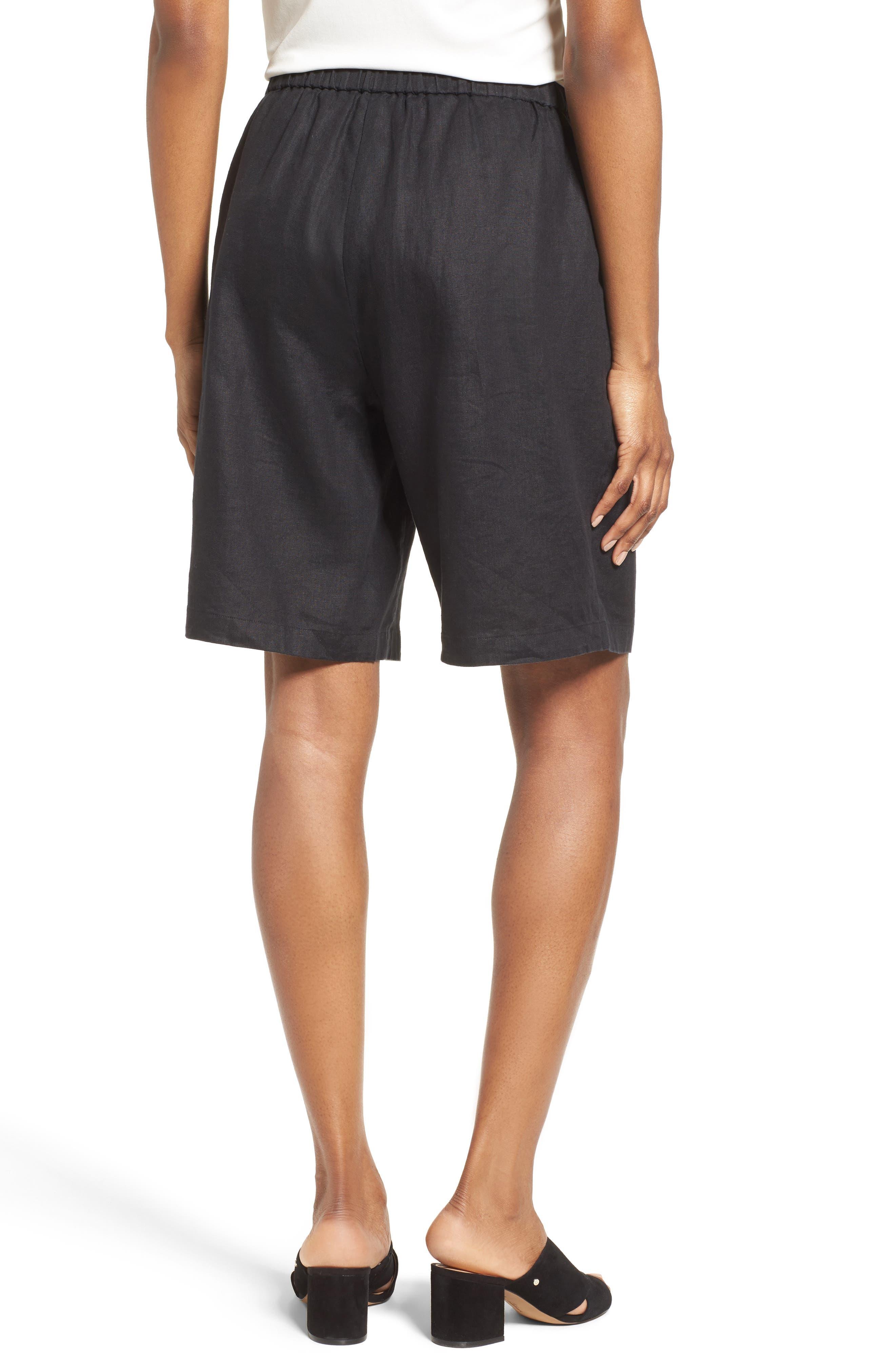 Organic Linen Sarong Shorts,                             Alternate thumbnail 2, color,                             001