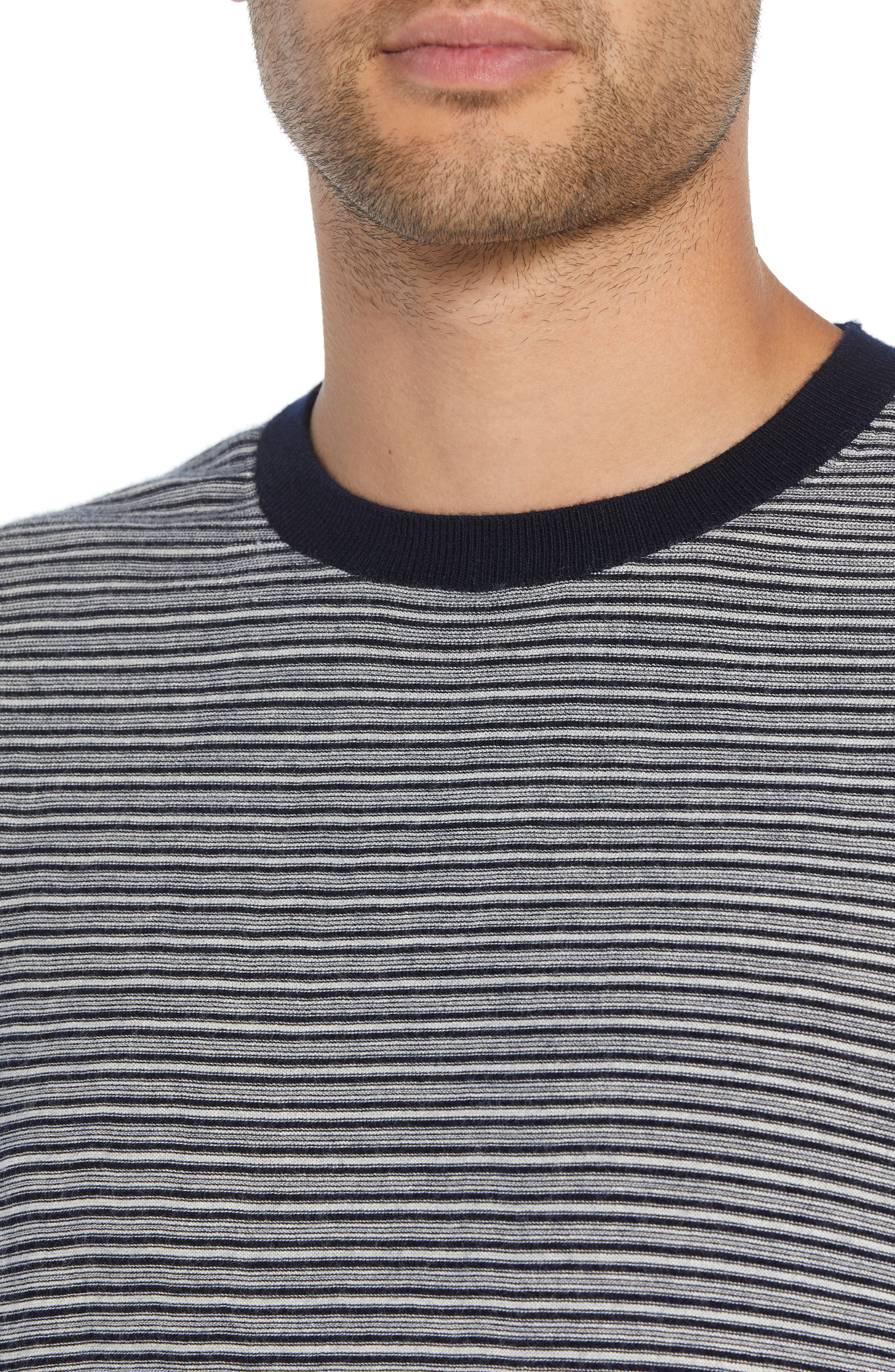 Striped Wool & Cashmere Sweater,                             Alternate thumbnail 4, color,                             400