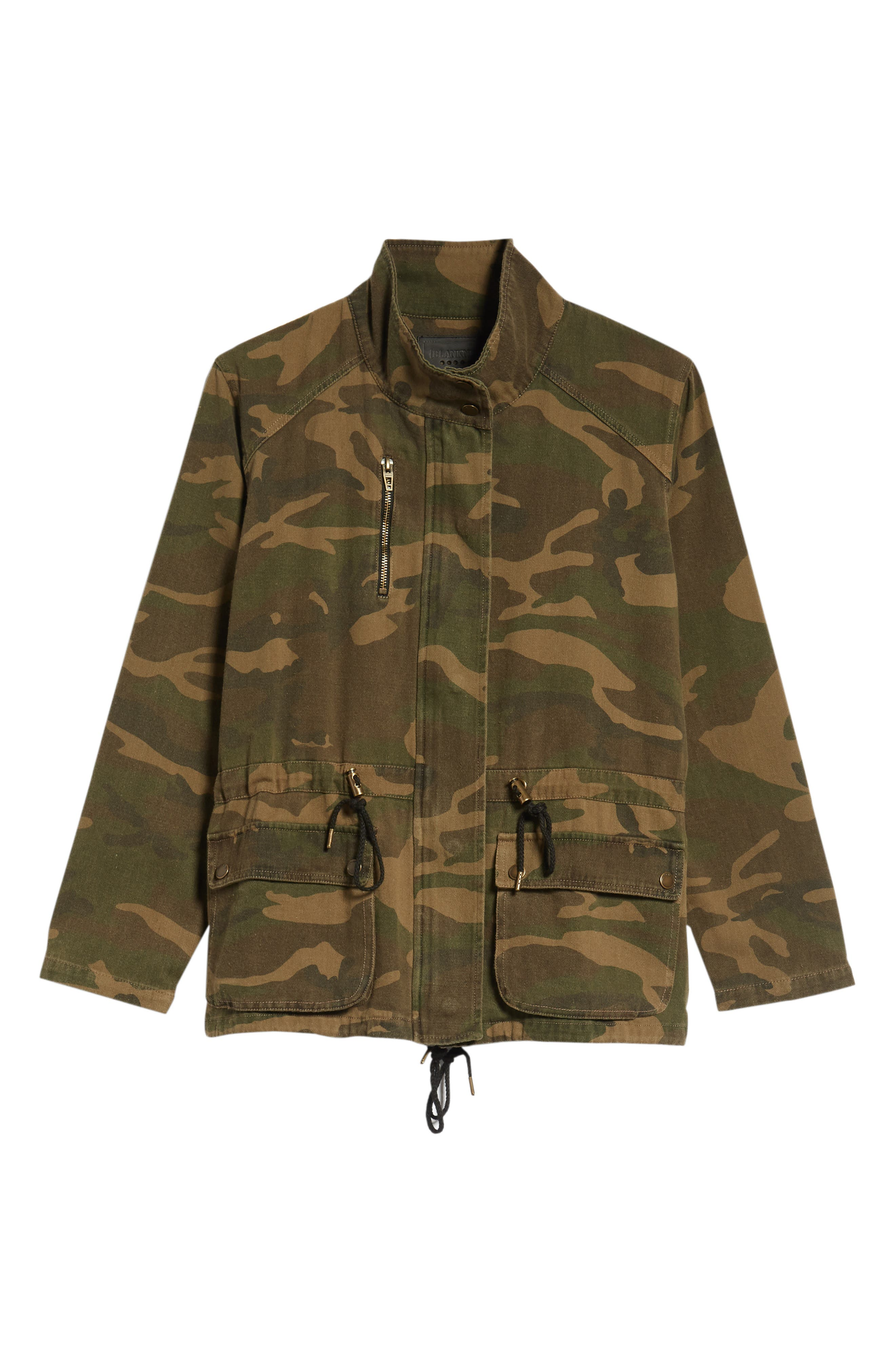 Camo Print Army Jacket,                             Alternate thumbnail 6, color,                             300