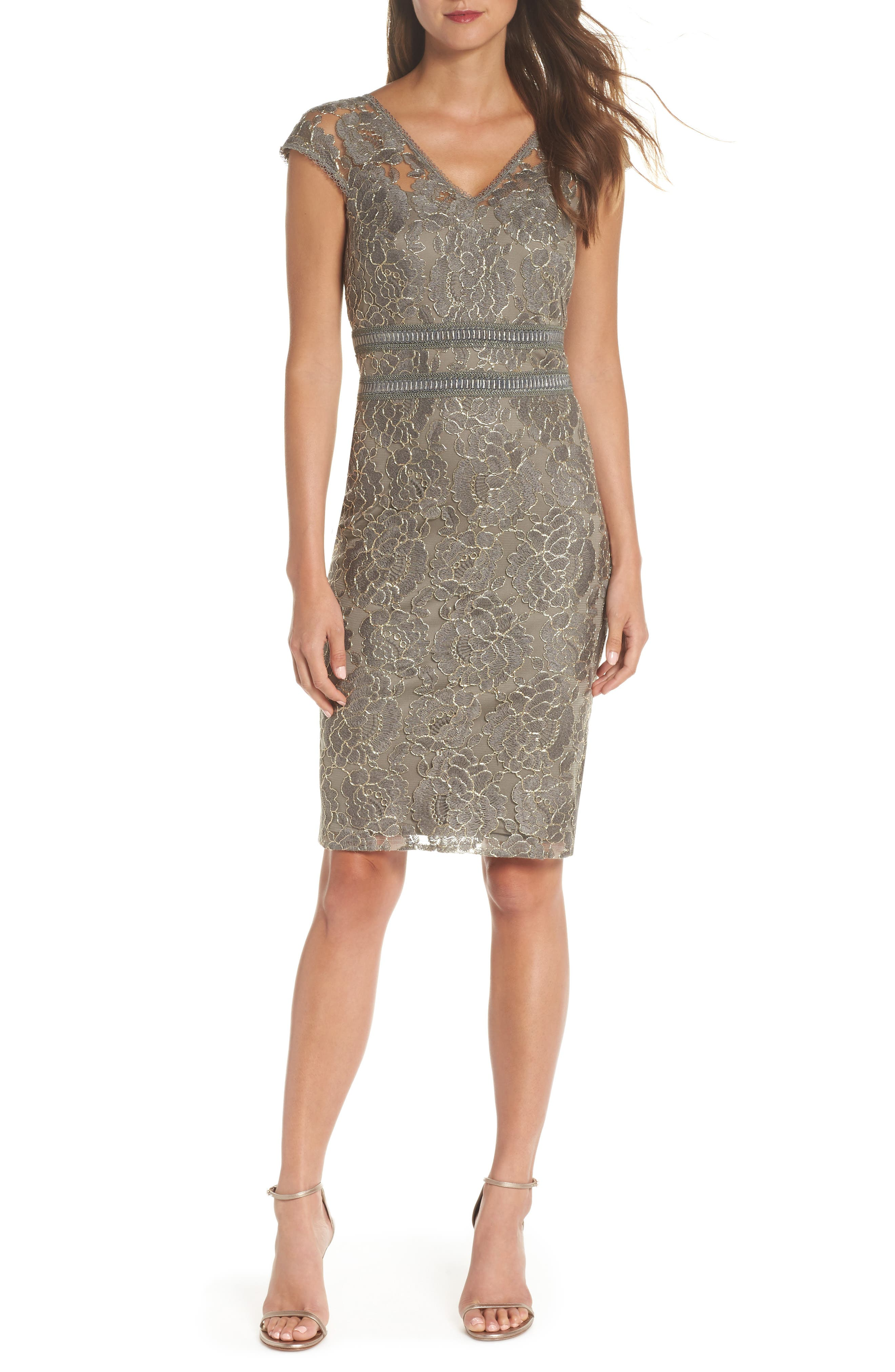 Lace Sheath Dress,                             Main thumbnail 1, color,                             020
