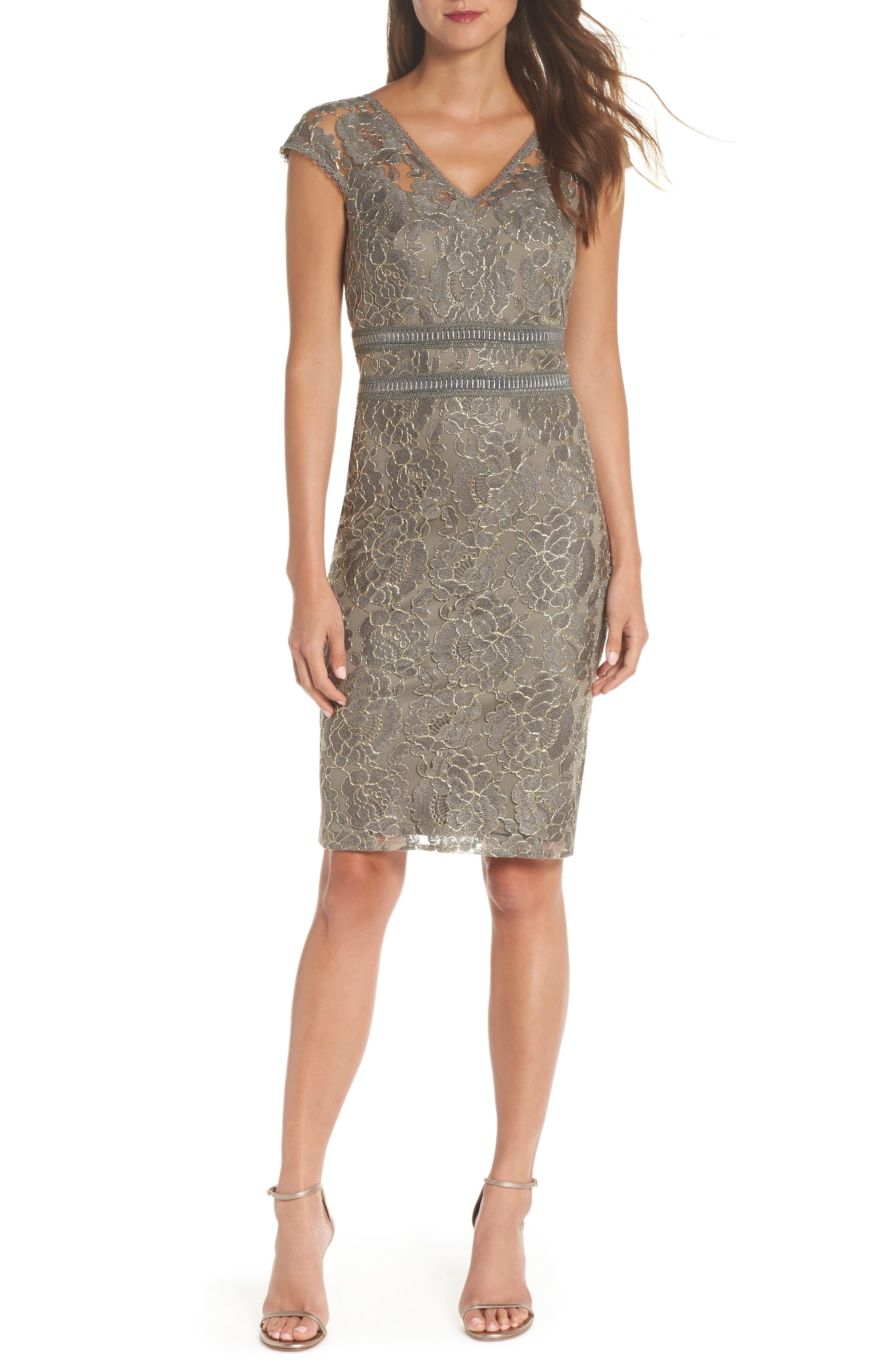 Lace Sheath Dress,                         Main,                         color, 020