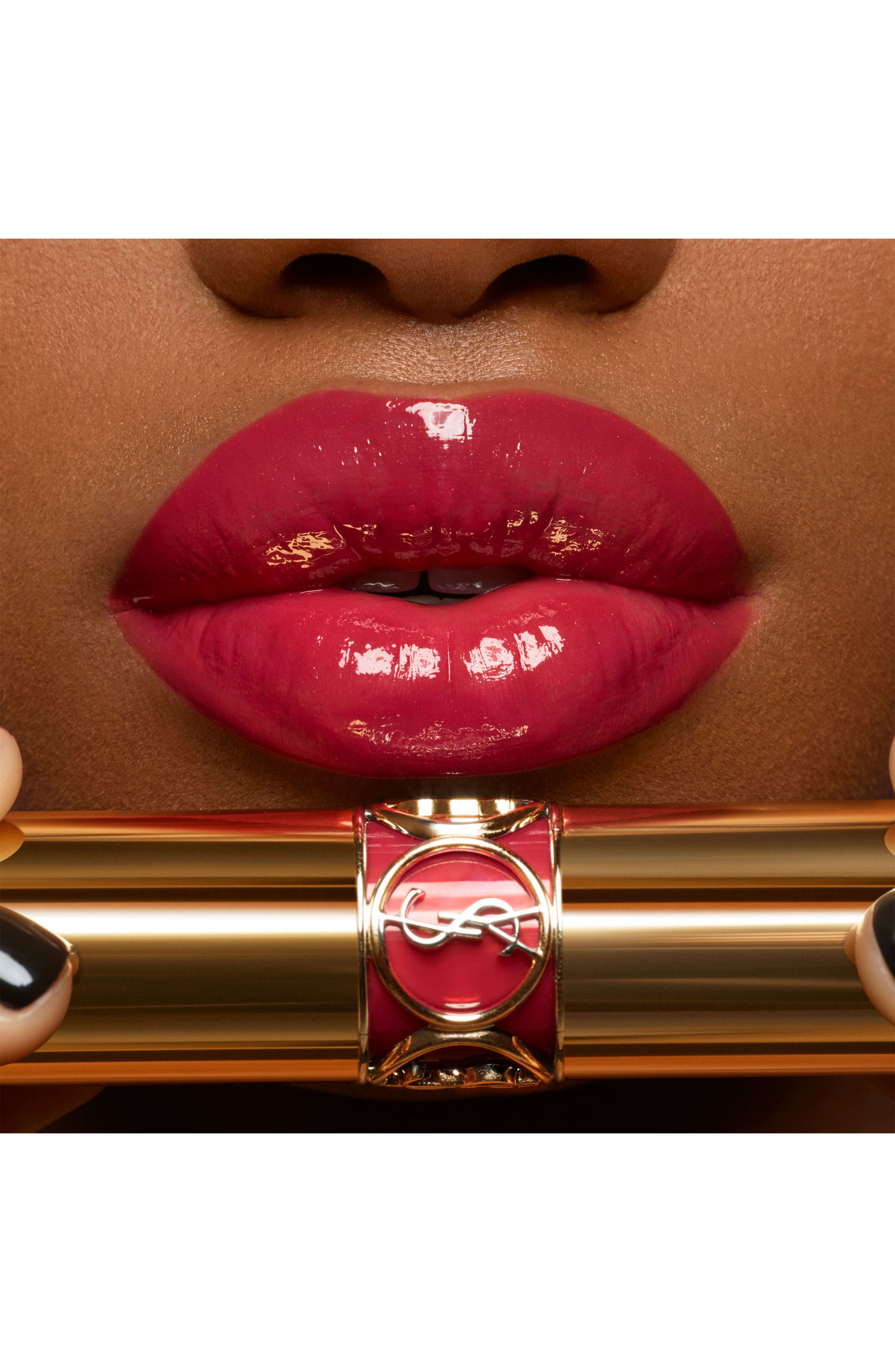 YVES SAINT LAURENT,                             Rouge Volupté Shine Oil-in-Stick Lipstick,                             Alternate thumbnail 4, color,                             84 RED CASSANDRE