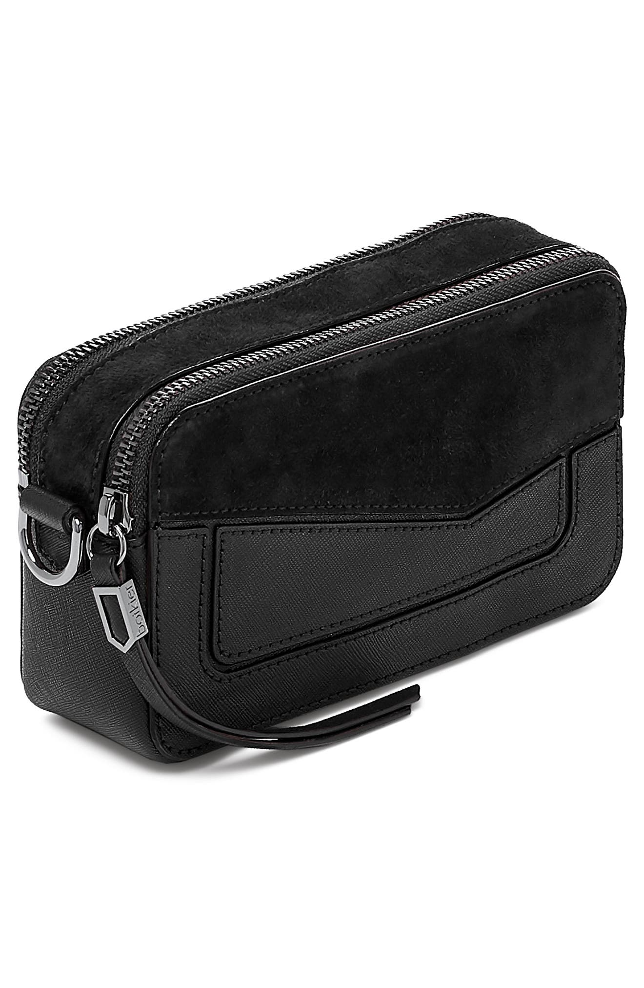 Cobble Hill Mini Crossbody Camera Bag,                             Alternate thumbnail 4, color,                             BLACK