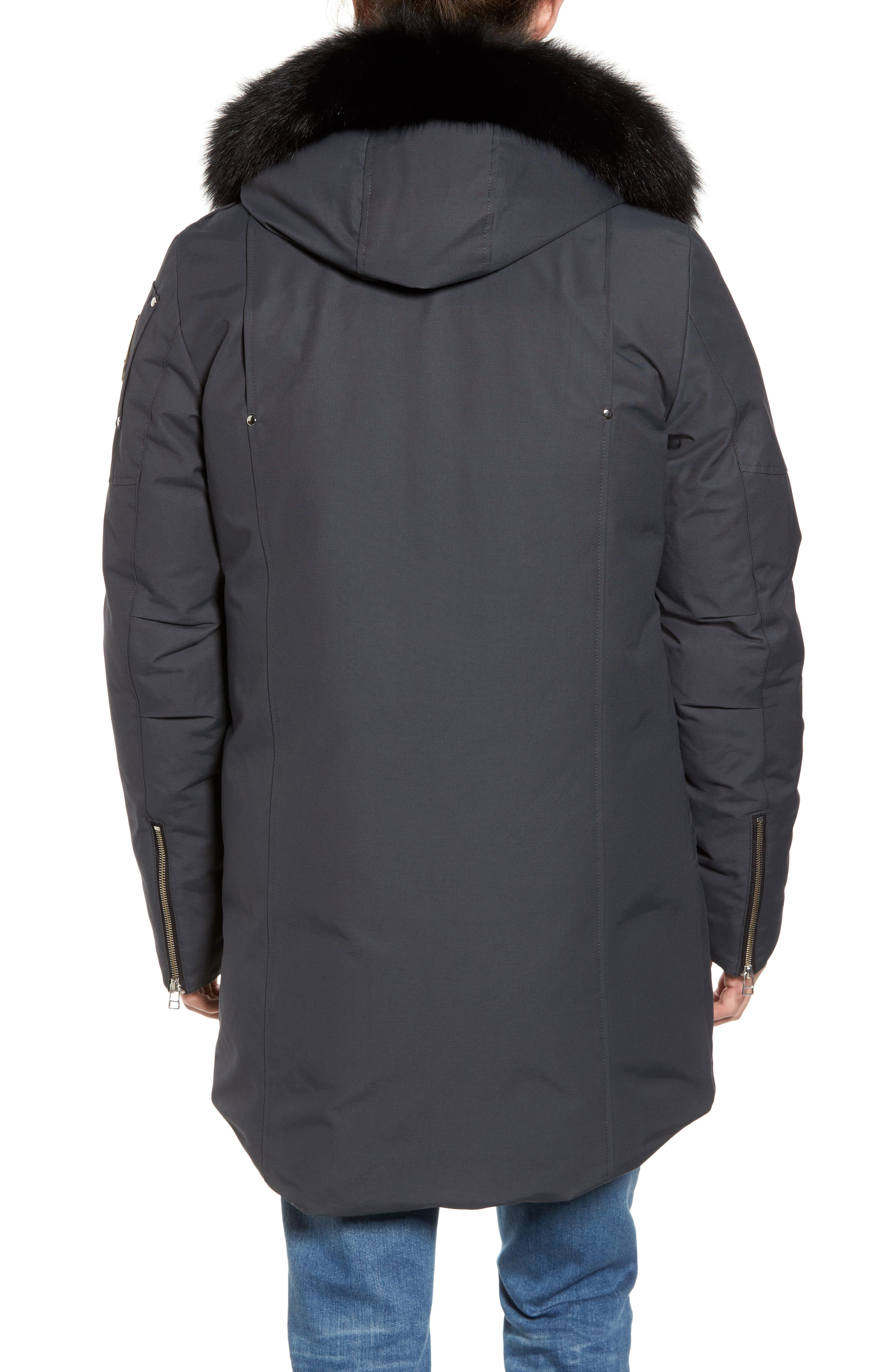 Stirling Water Repellent Down Parka with Genuine Fox Fur Trim,                             Alternate thumbnail 7, color,