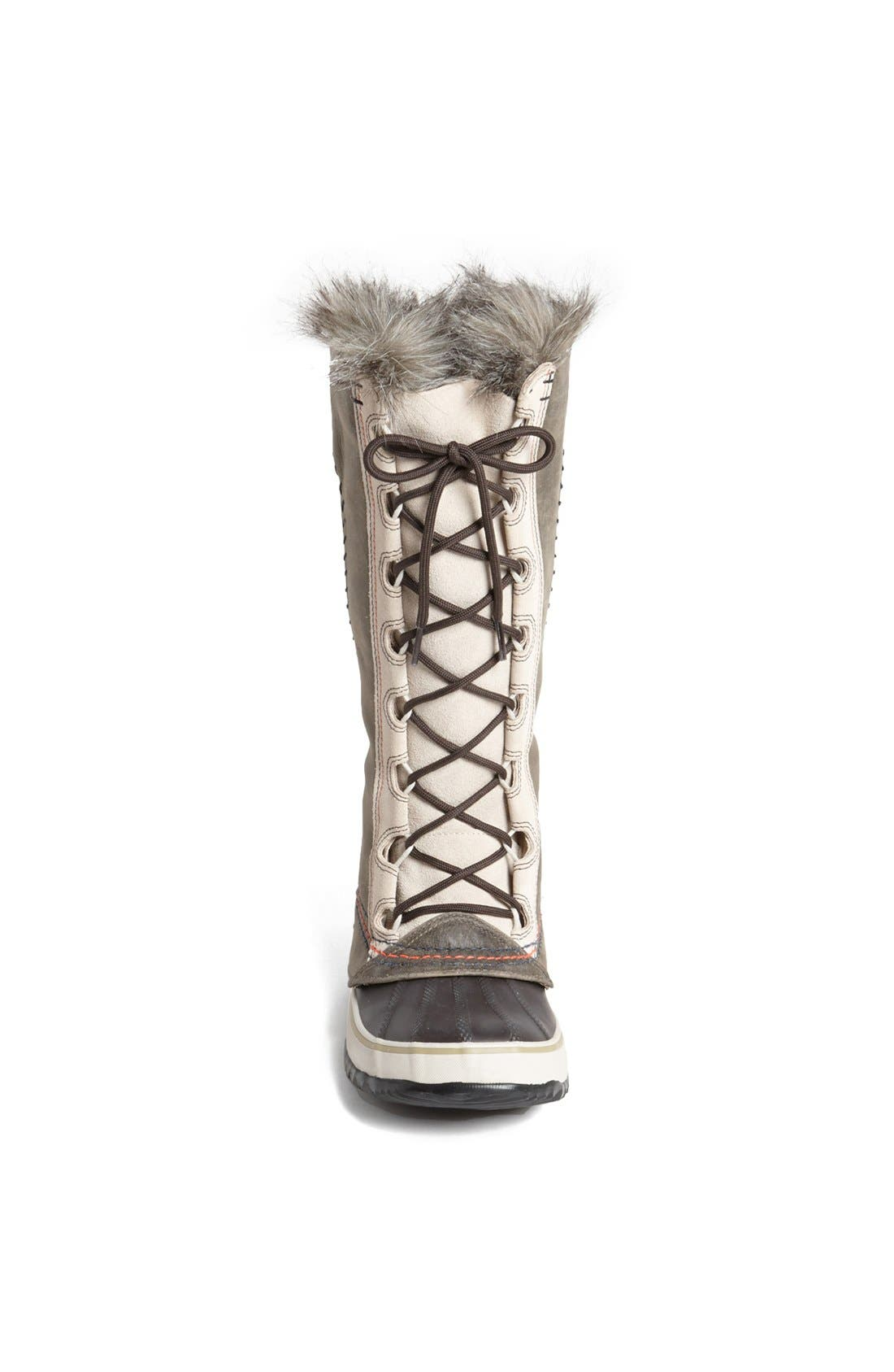'Cate the Great - Deco' Waterproof Suede Duck Boot,                             Alternate thumbnail 4, color,                             099