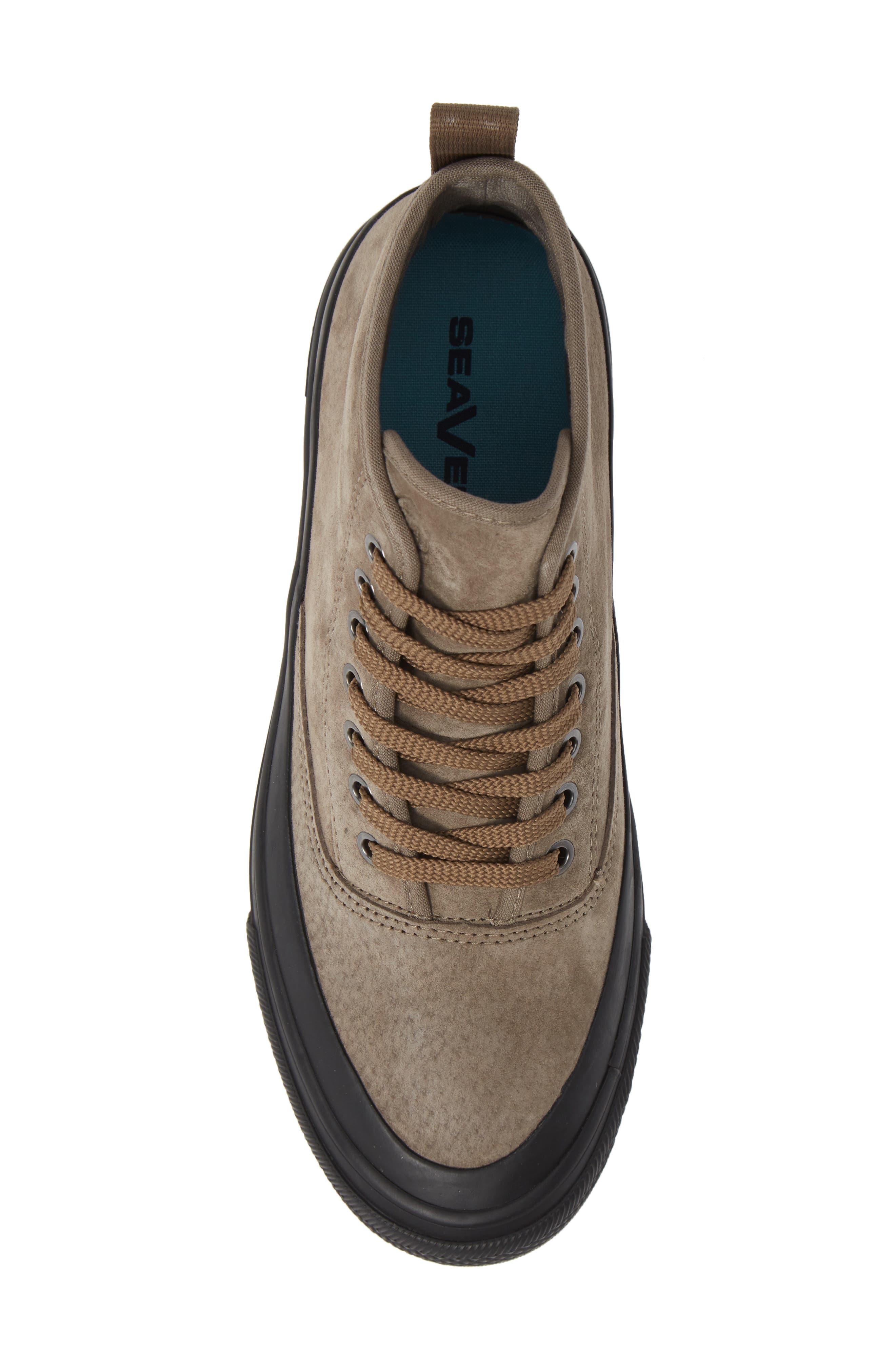 Mariners Waterproof Sneaker,                             Alternate thumbnail 5, color,                             BROWN SUEDE