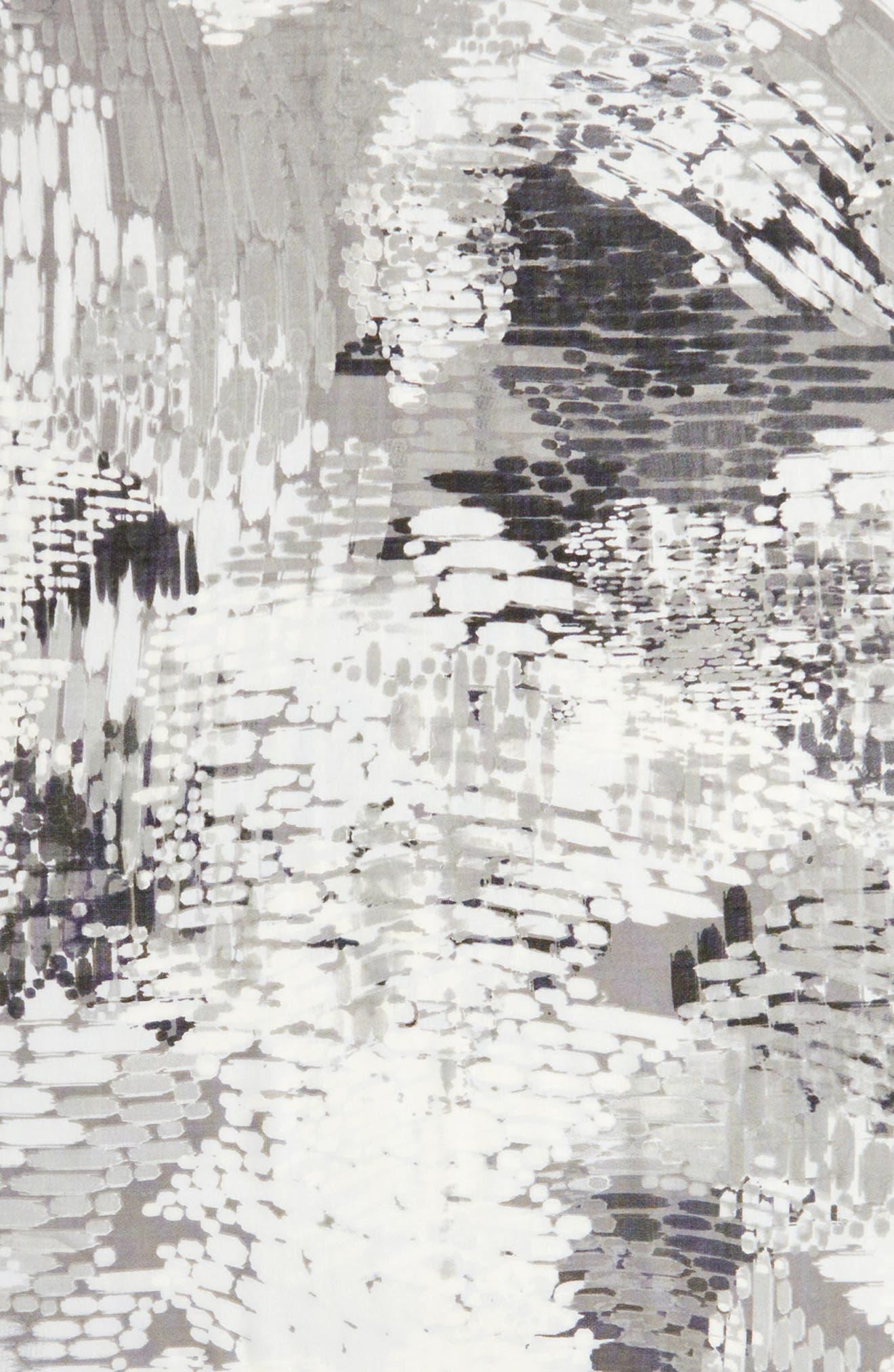 Eyelash Trim Print Cashmere & Silk Wrap,                             Alternate thumbnail 96, color,