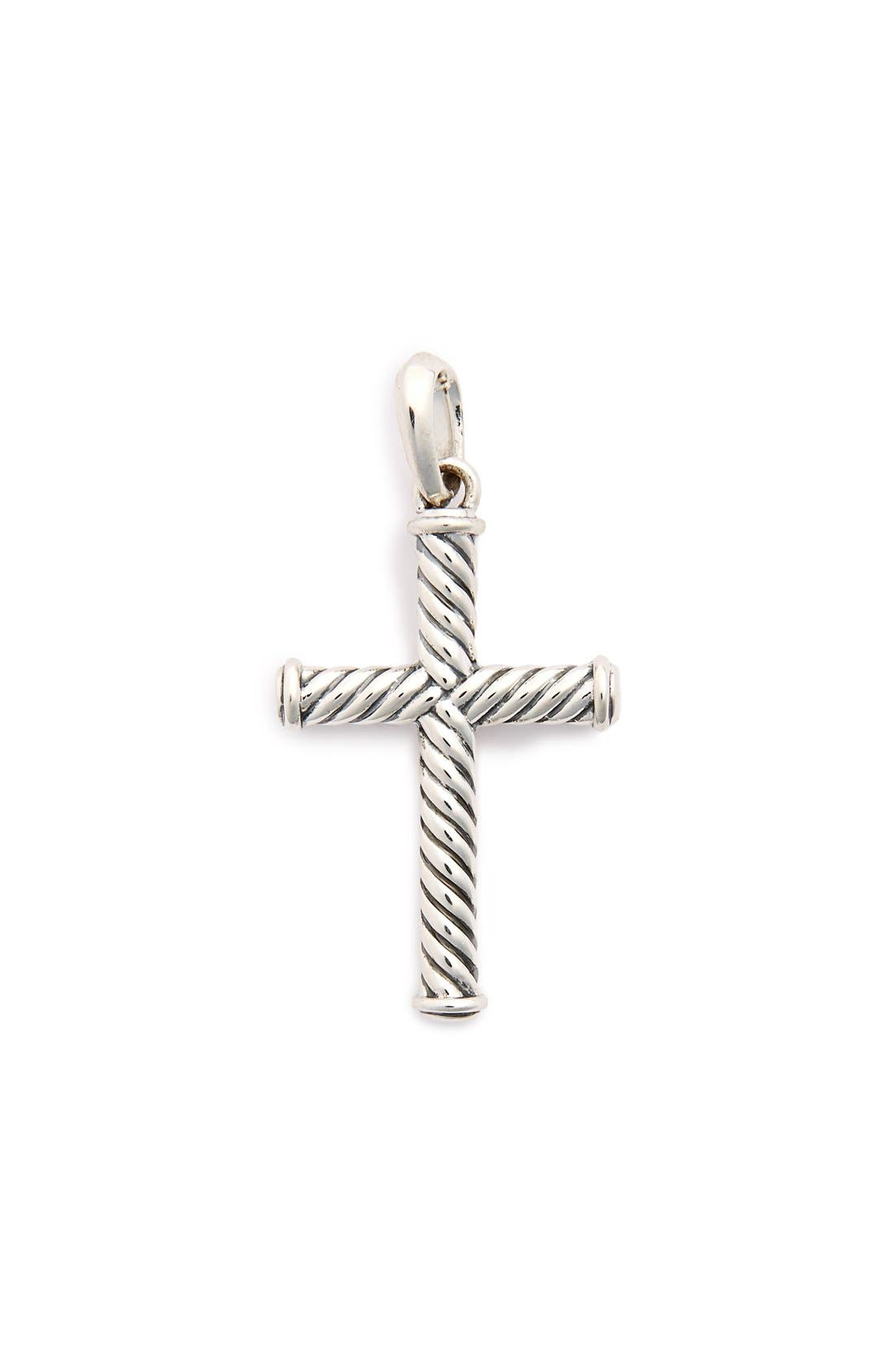 'Cable Classics' Cross,                             Main thumbnail 1, color,                             SILVER