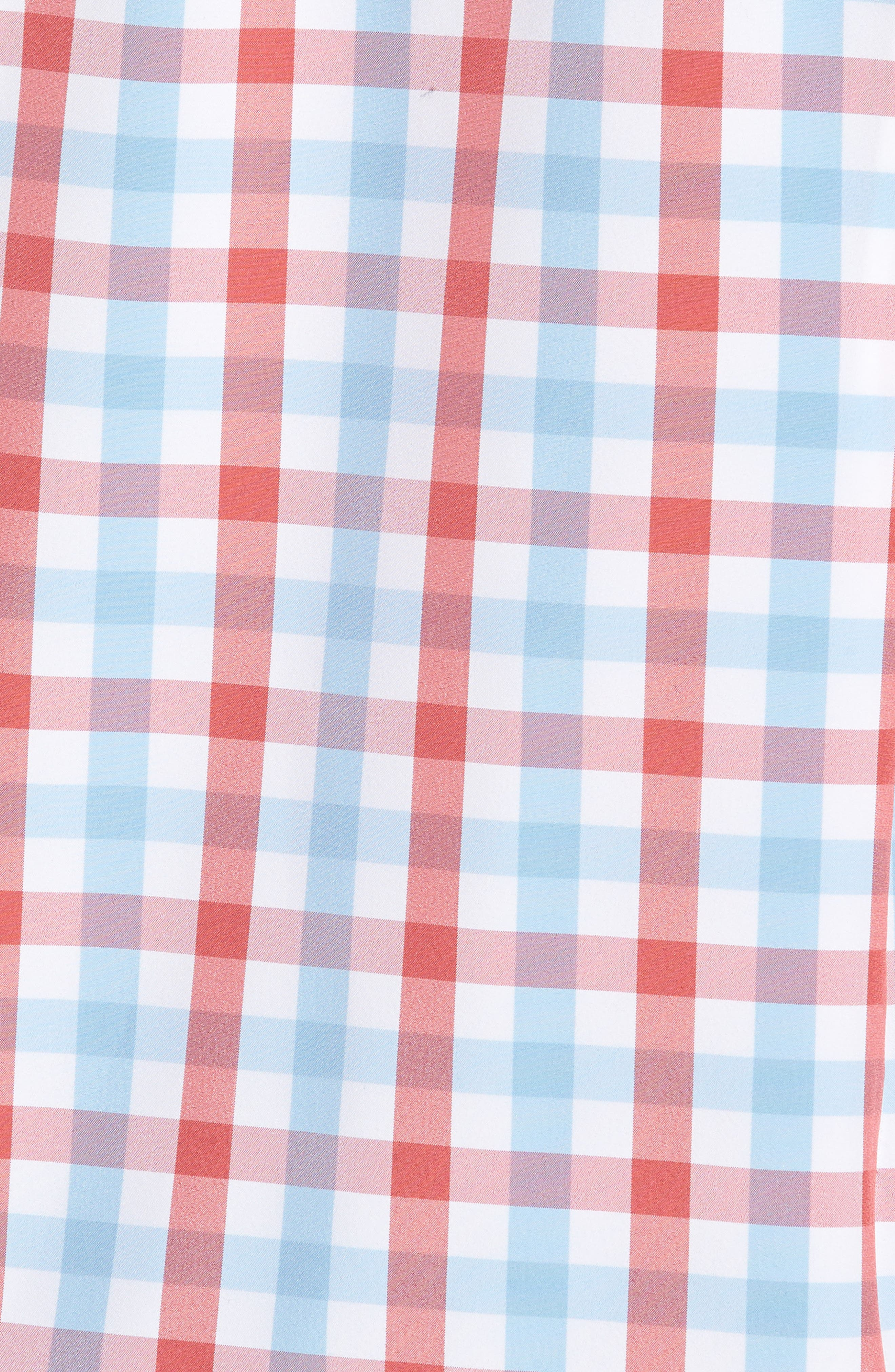 MIZZEN+MAIN,                             Revere Slim Fit Tattersall Performance Sport Shirt,                             Alternate thumbnail 5, color,                             649