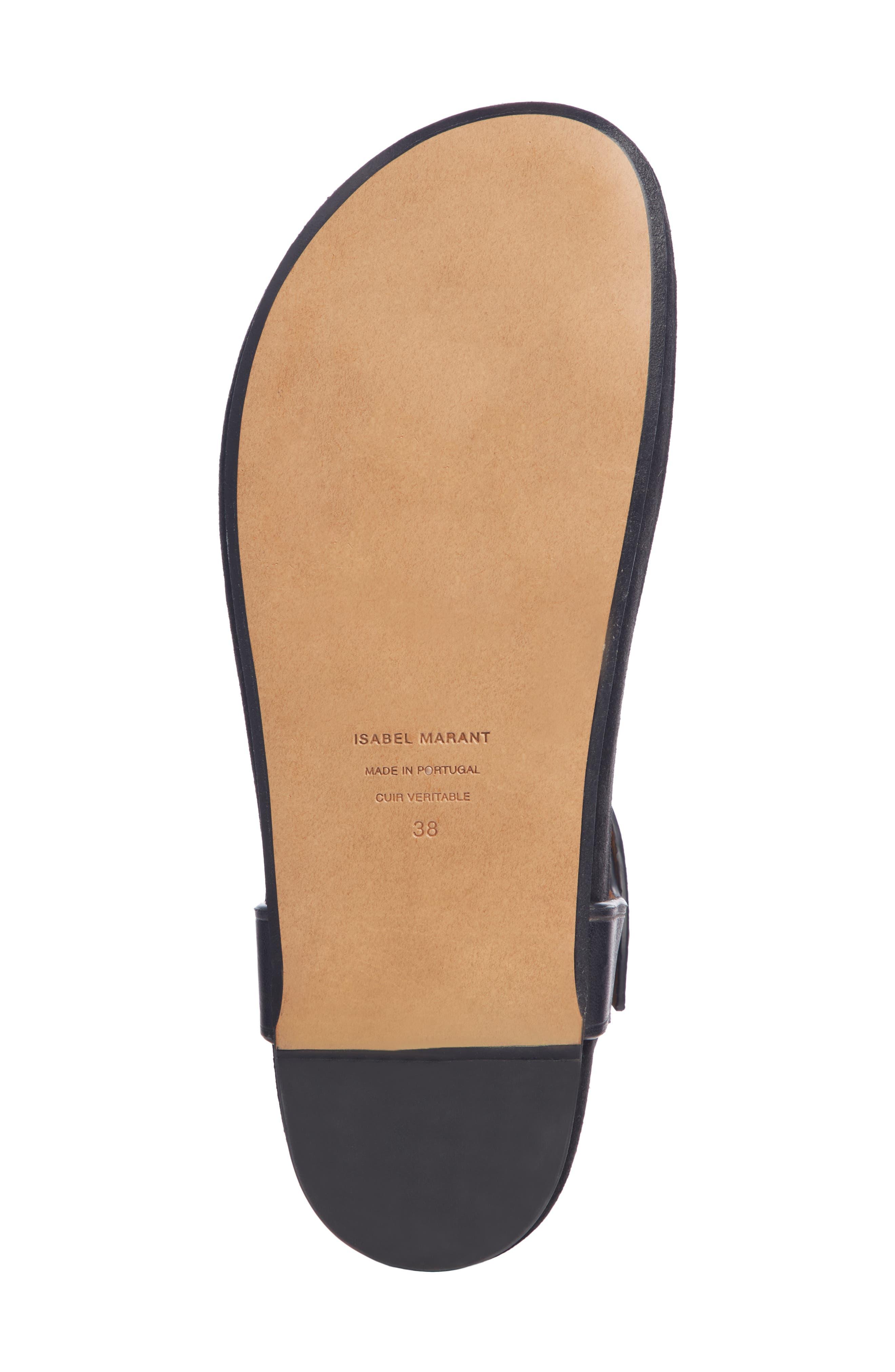 Enore Studded Sandal,                             Alternate thumbnail 5, color,                             BLACK