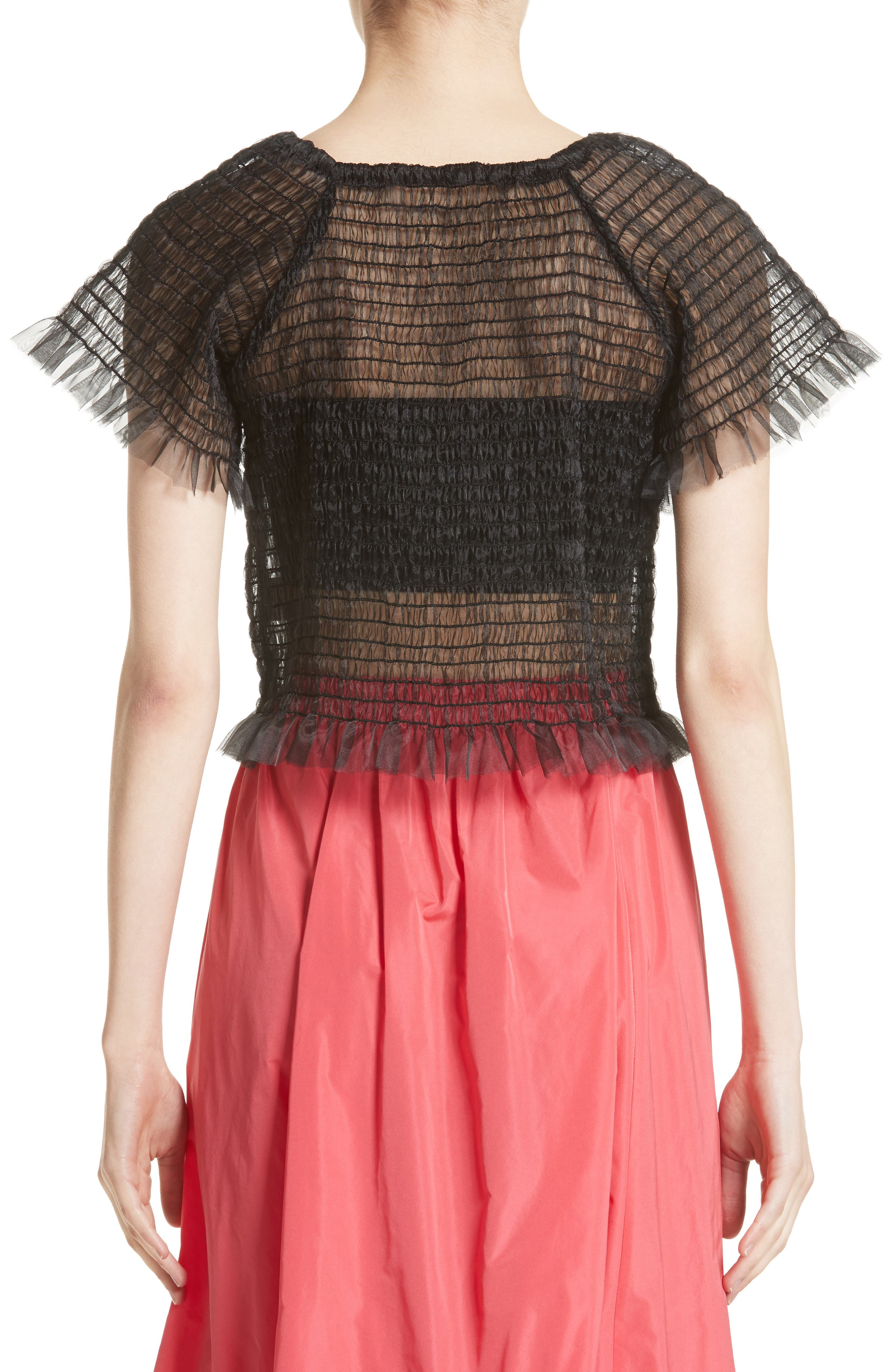 Blonde Tulle Top,                             Alternate thumbnail 2, color,                             001