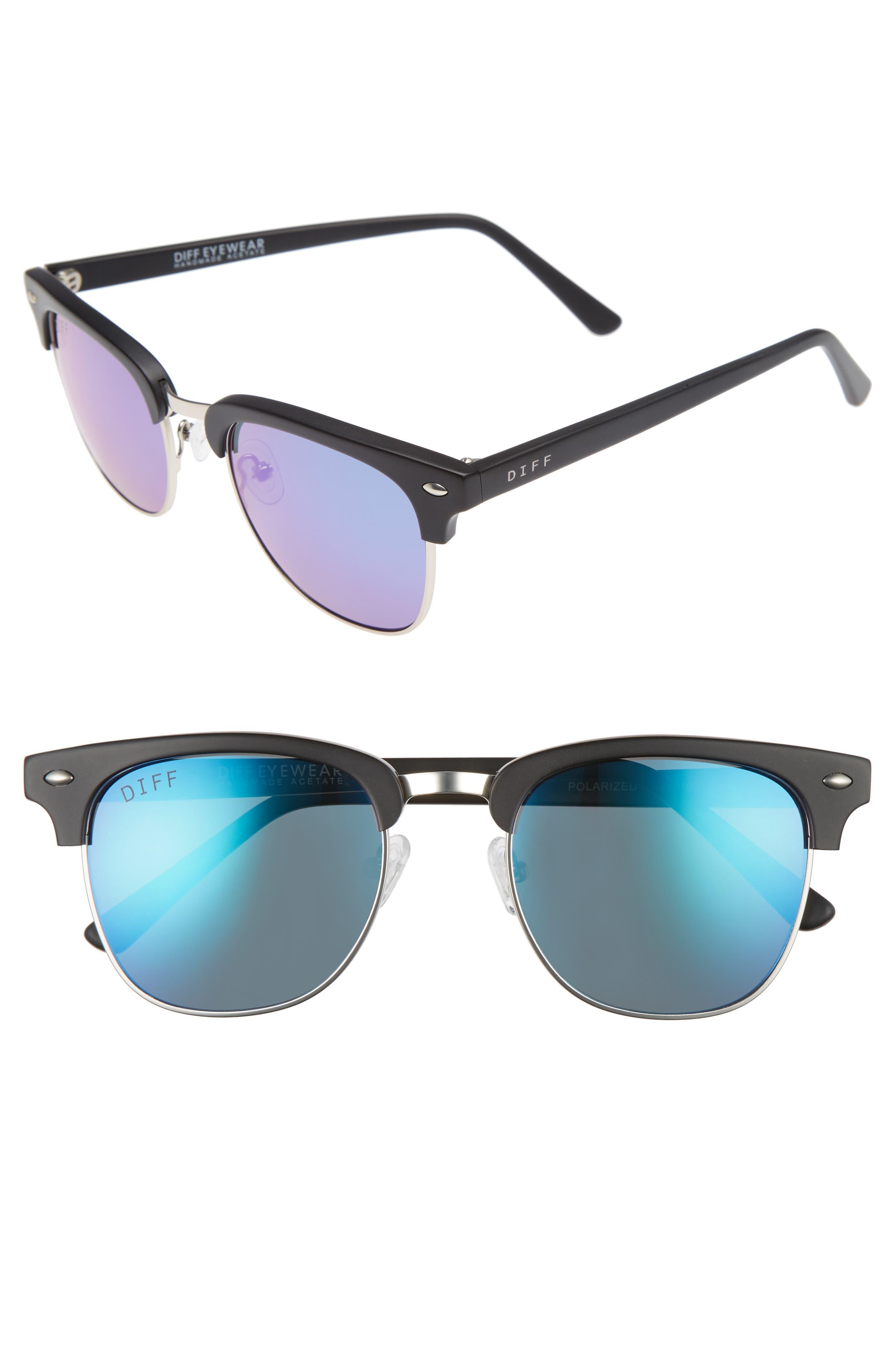 Barry 51mm Polarized Retro Sunglasses,                             Main thumbnail 1, color,