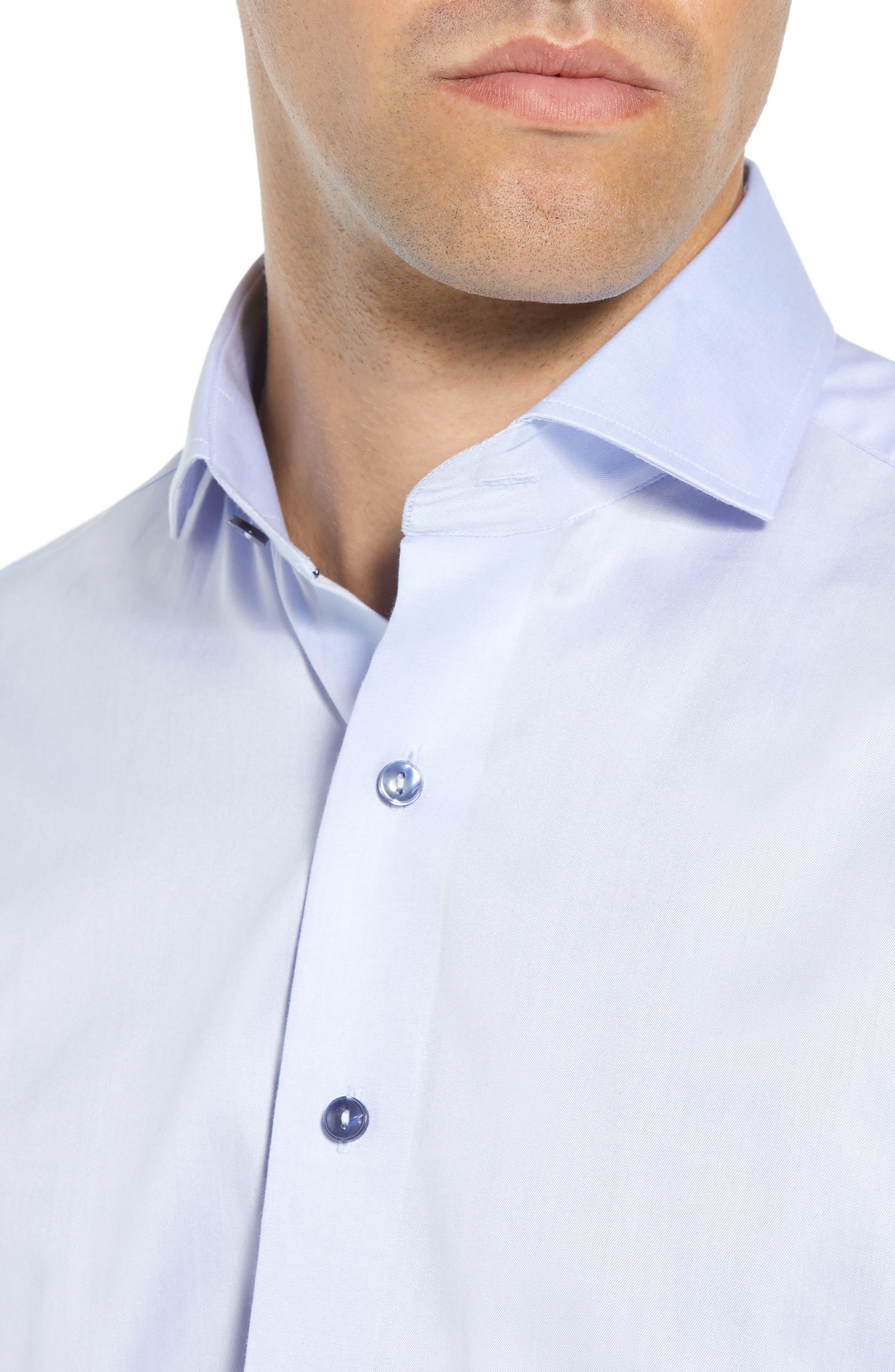 LORENZO UOMO,                             Trim Fit Solid Dress Shirt,                             Alternate thumbnail 2, color,                             LIGHT BLUE