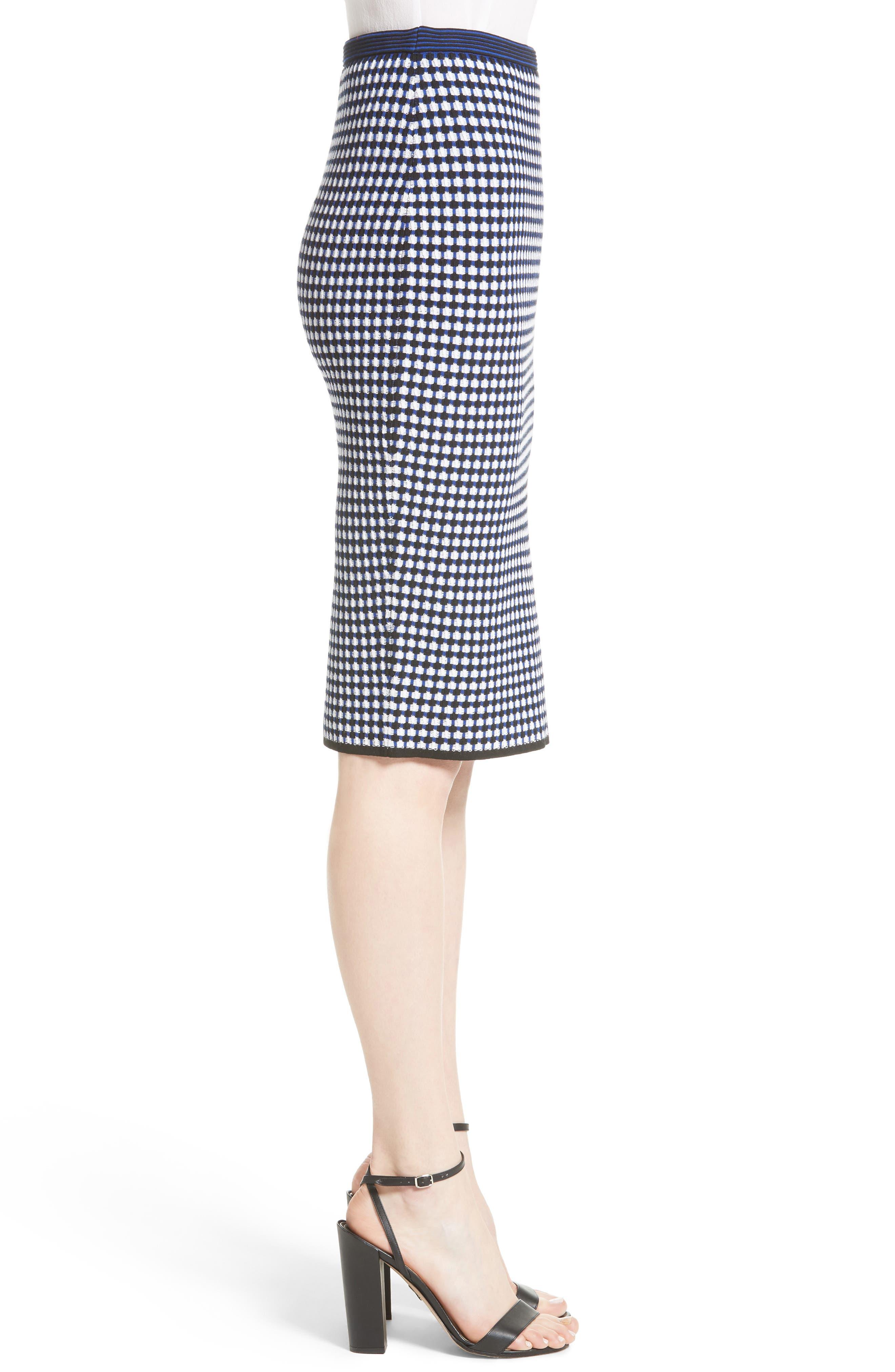 Knit Pencil Skirt,                             Alternate thumbnail 3, color,                             491