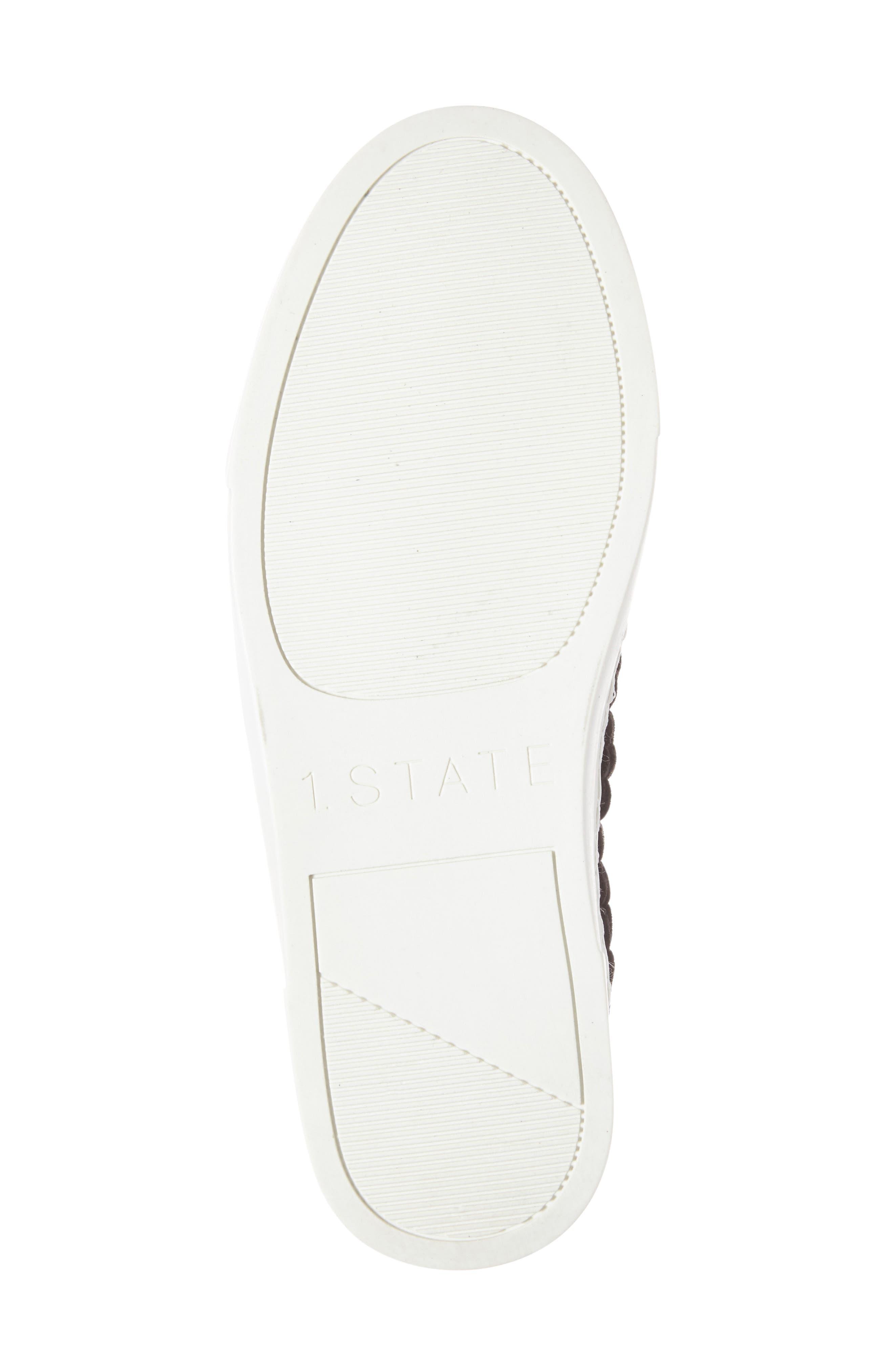 Delphin Braided Slip-On Sneaker,                             Alternate thumbnail 4, color,                             001
