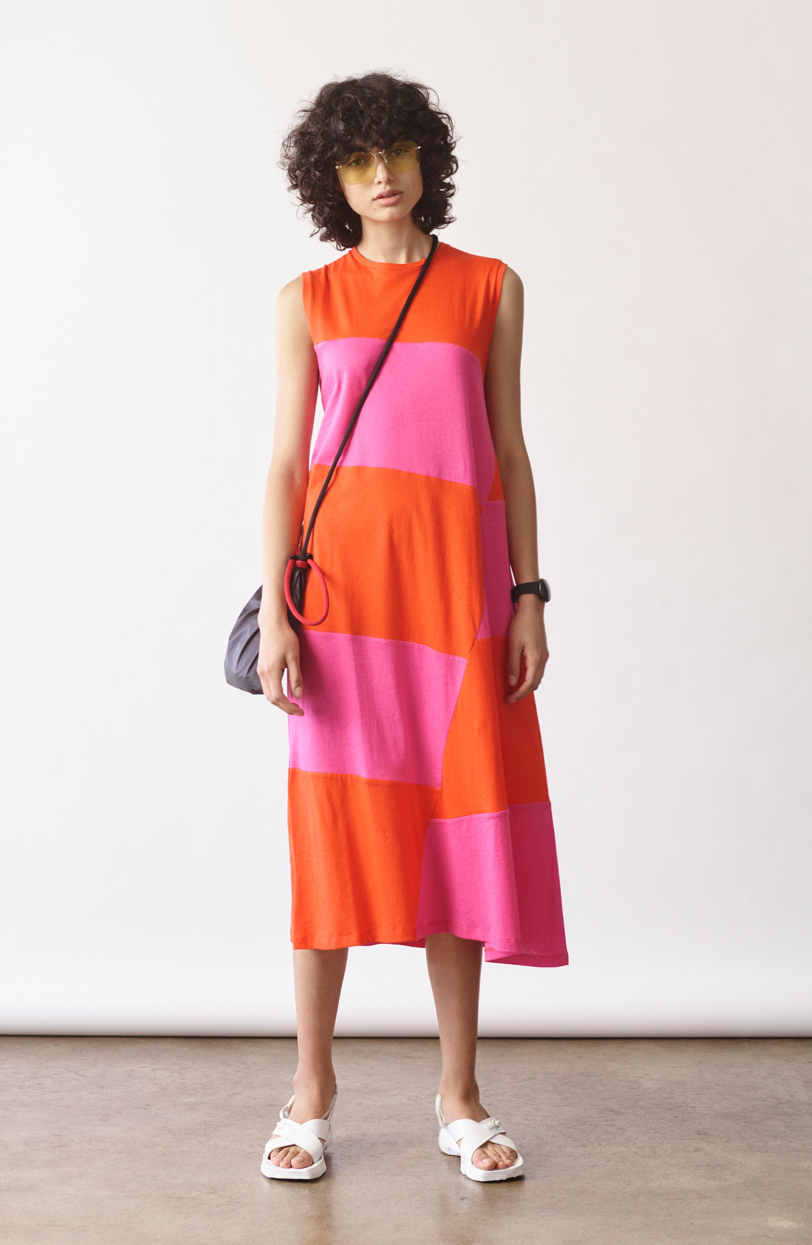 Dove Asymmetrical Stripe Dress,                             Alternate thumbnail 7, color,                             812