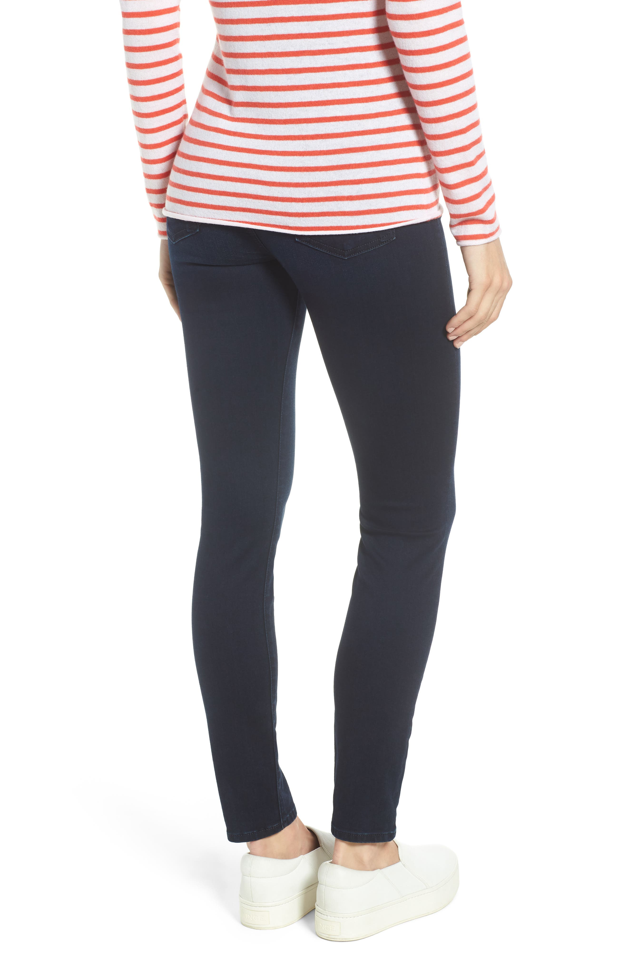 Comfort Skinny Denim Leggings,                             Alternate thumbnail 2, color,                             RICHE TOUCH BLUE/BLACK