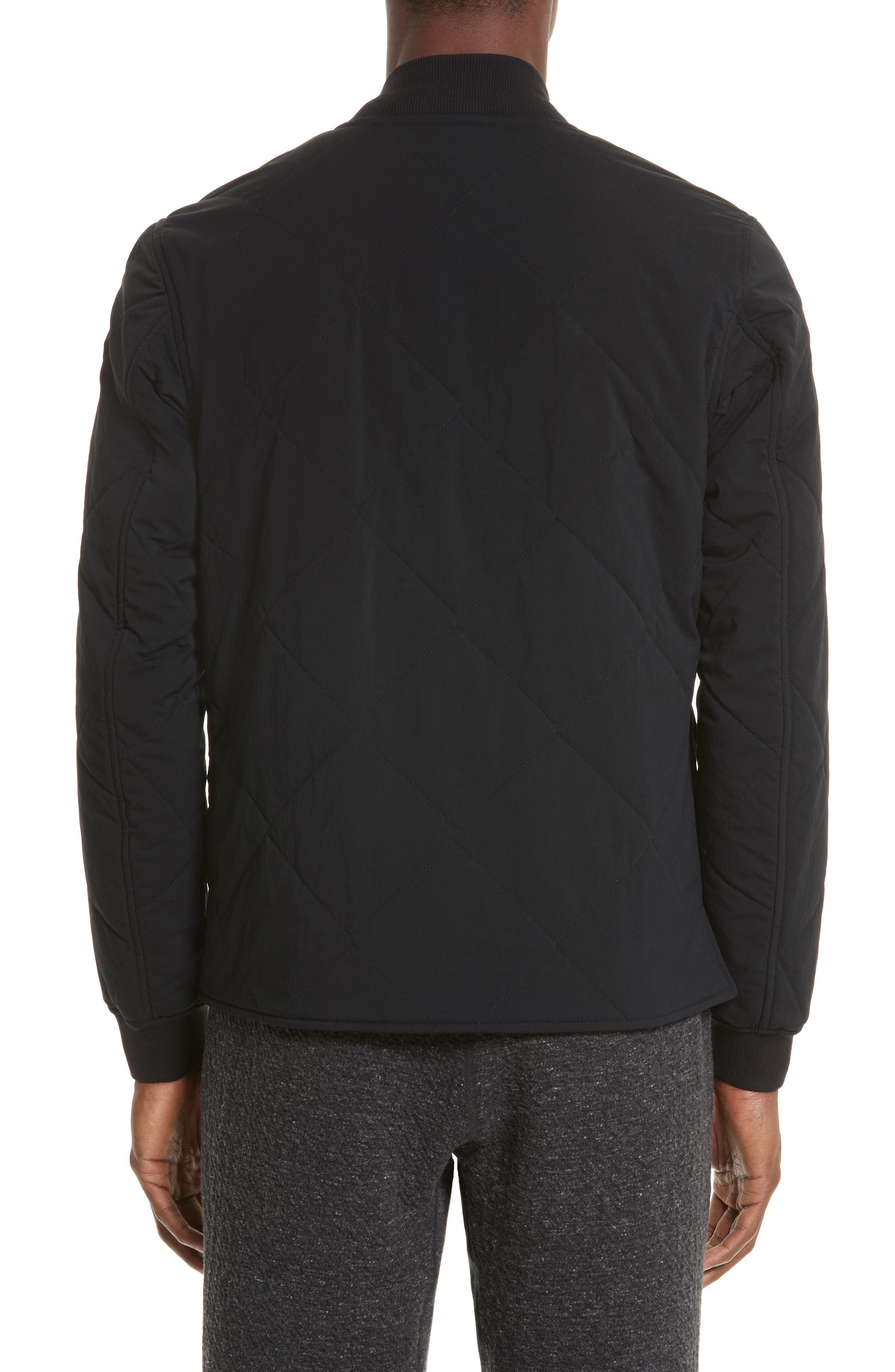 Alpha Quilted Bomber Jacket,                             Alternate thumbnail 3, color,                             001