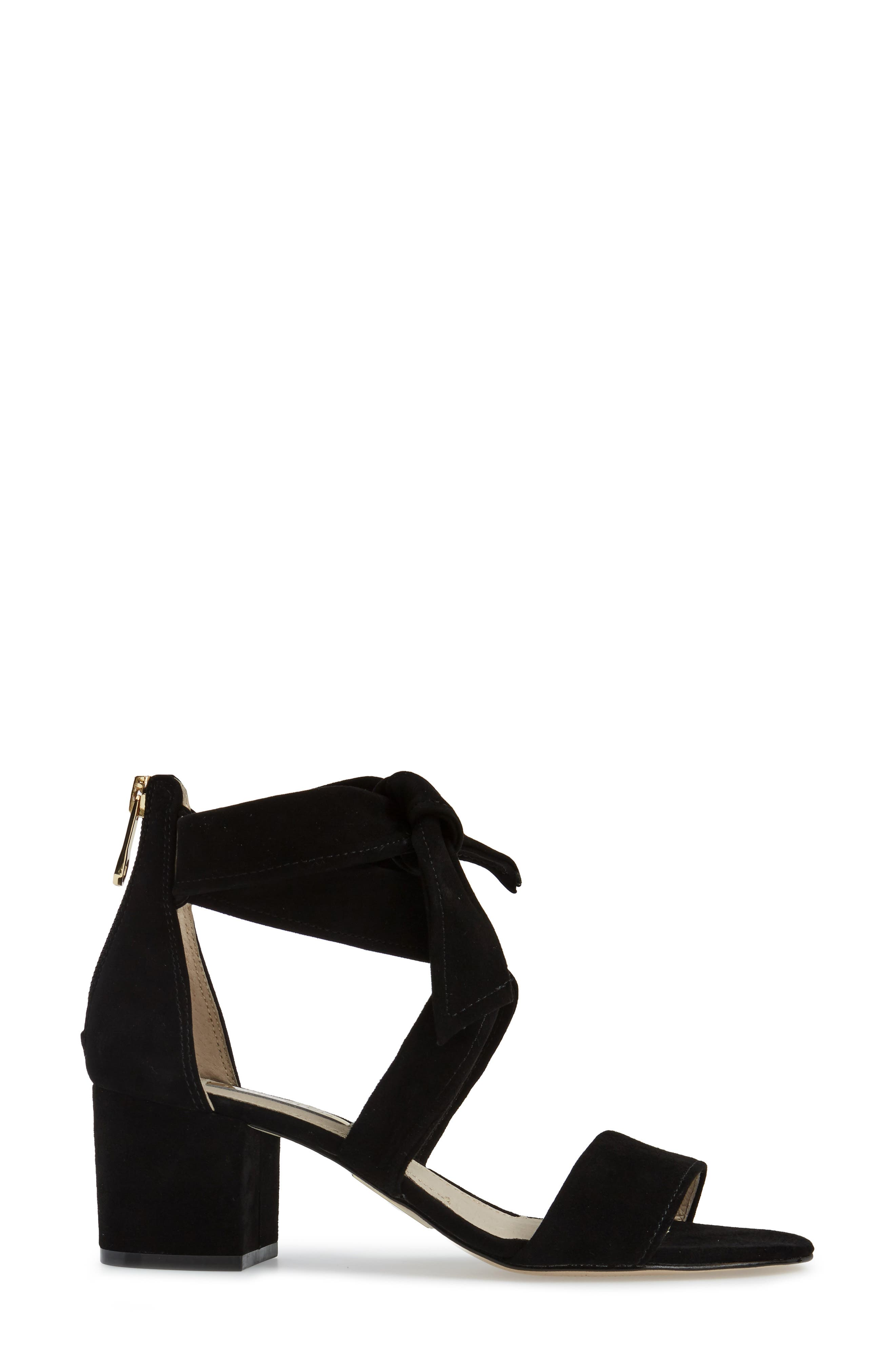 Gia Block Heel Sandal,                             Alternate thumbnail 3, color,                             001
