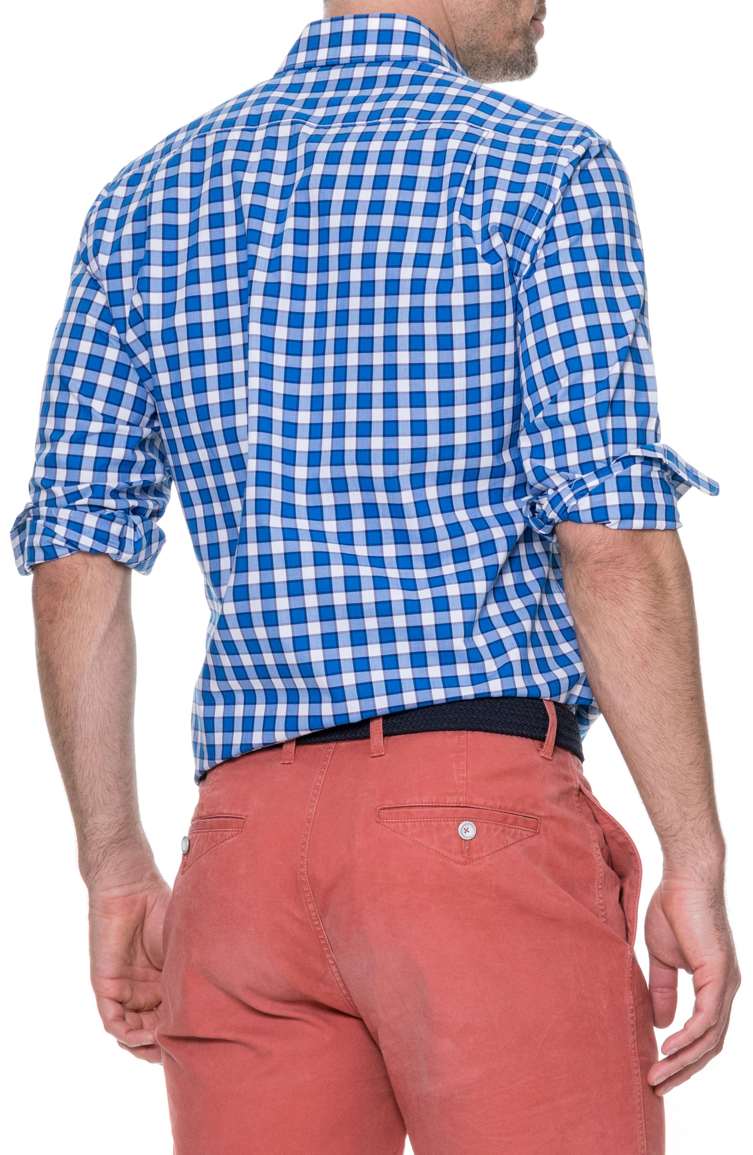 Cedarwood Regular Fit Sport Shirt,                             Alternate thumbnail 2, color,                             AZURE