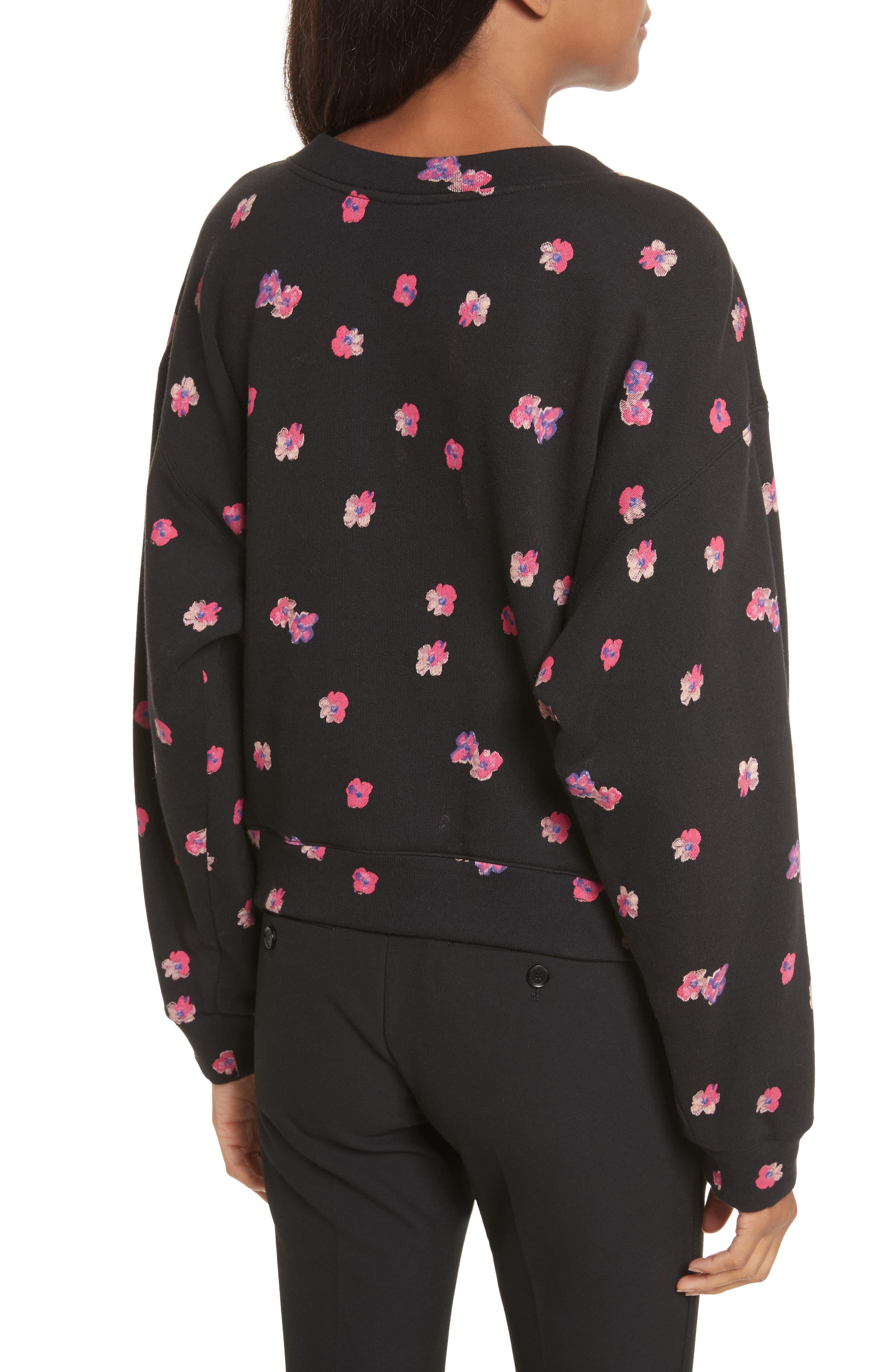 Floriana Floral Sweatshirt,                             Alternate thumbnail 2, color,