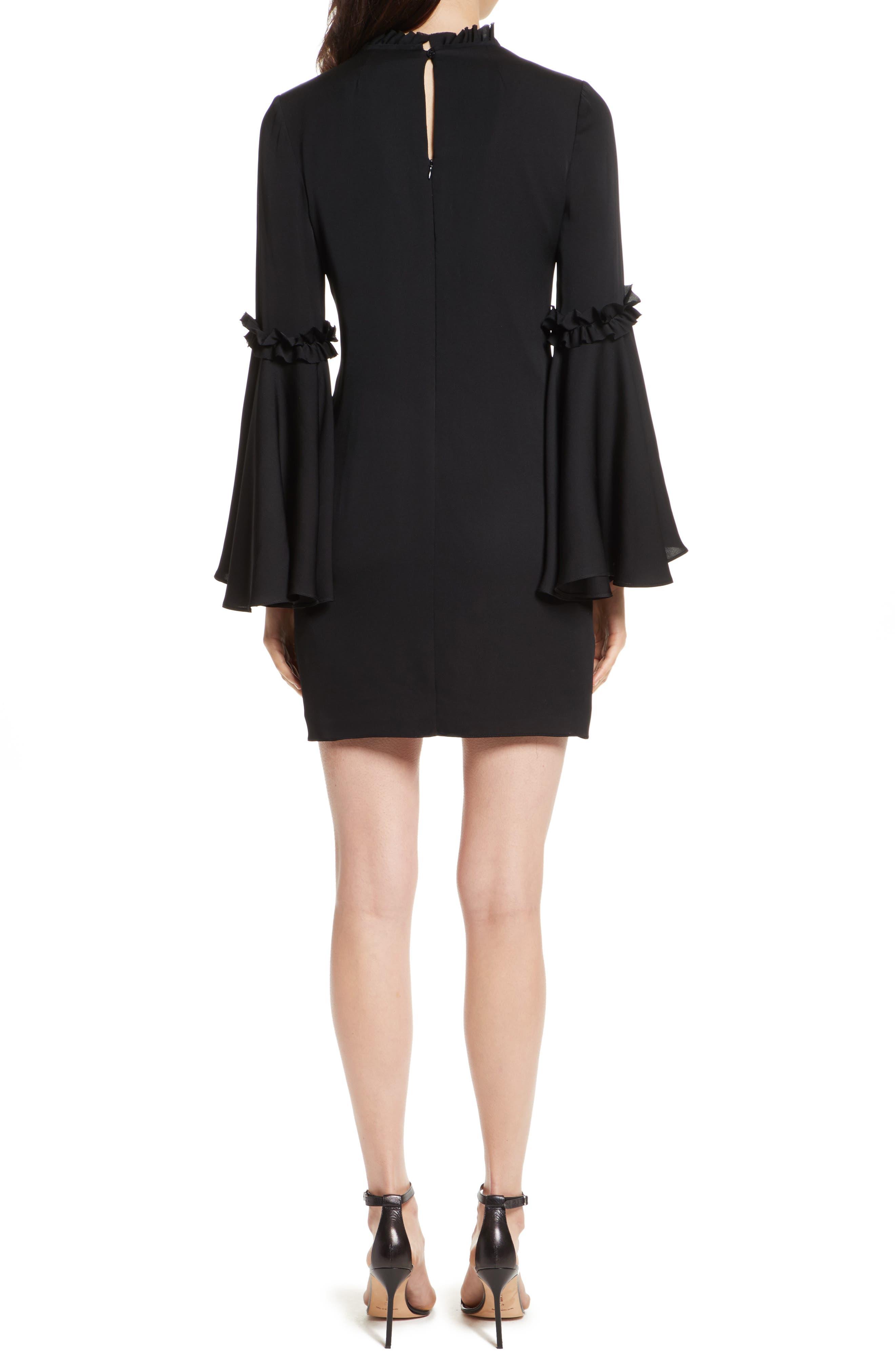 Cassie Bell Sleeve A-Line Dress,                             Alternate thumbnail 2, color,                             001