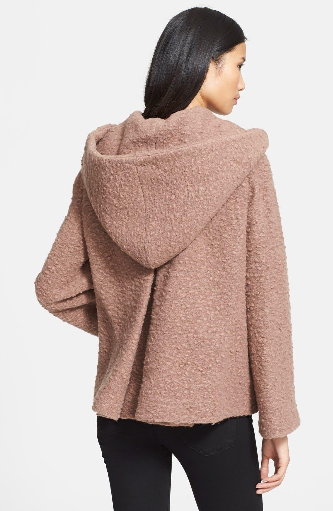 JILL STUART,                             'Diane' Wool Blend Short Coat,                             Alternate thumbnail 3, color,                             020