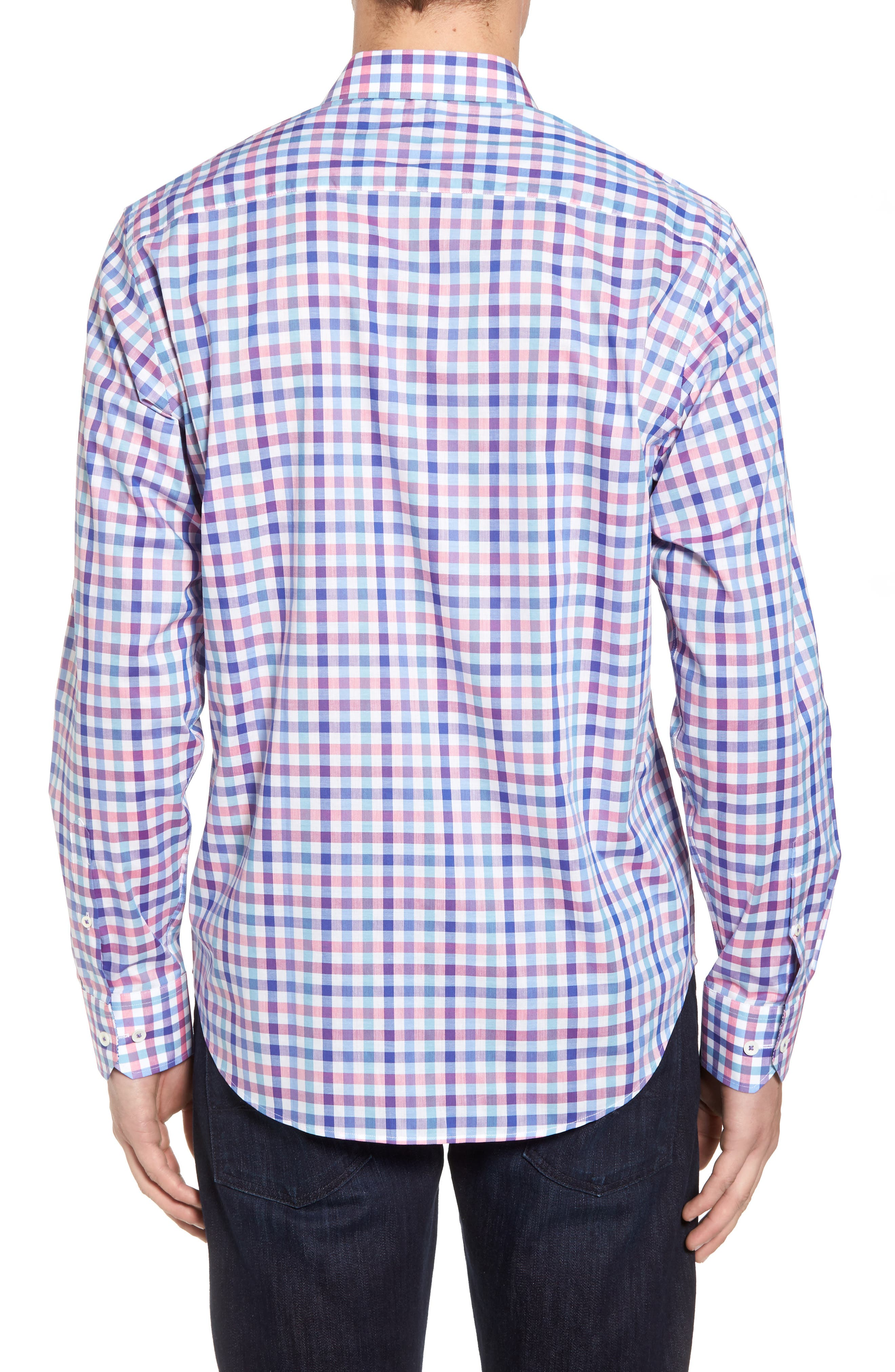 Classic Fit Check Sport Shirt,                             Alternate thumbnail 2, color,                             422