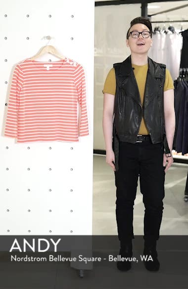 Shoulder Button Cotton Top, sales video thumbnail