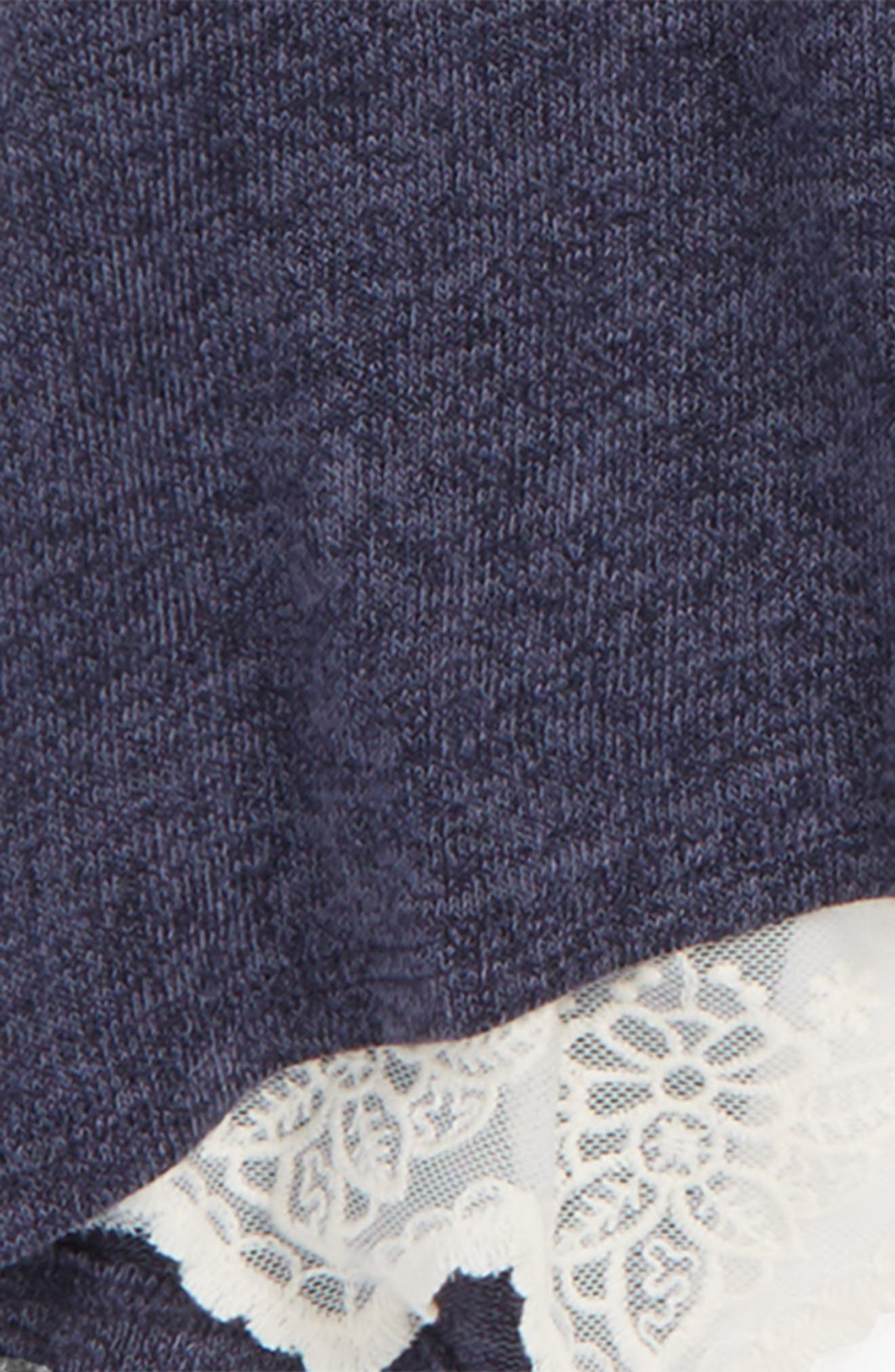 Lace Back Sweater,                             Alternate thumbnail 5, color,