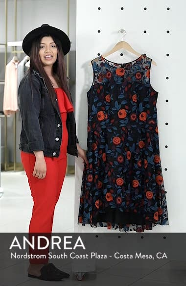 Floral Embroidery Fit and Flare Dress, sales video thumbnail