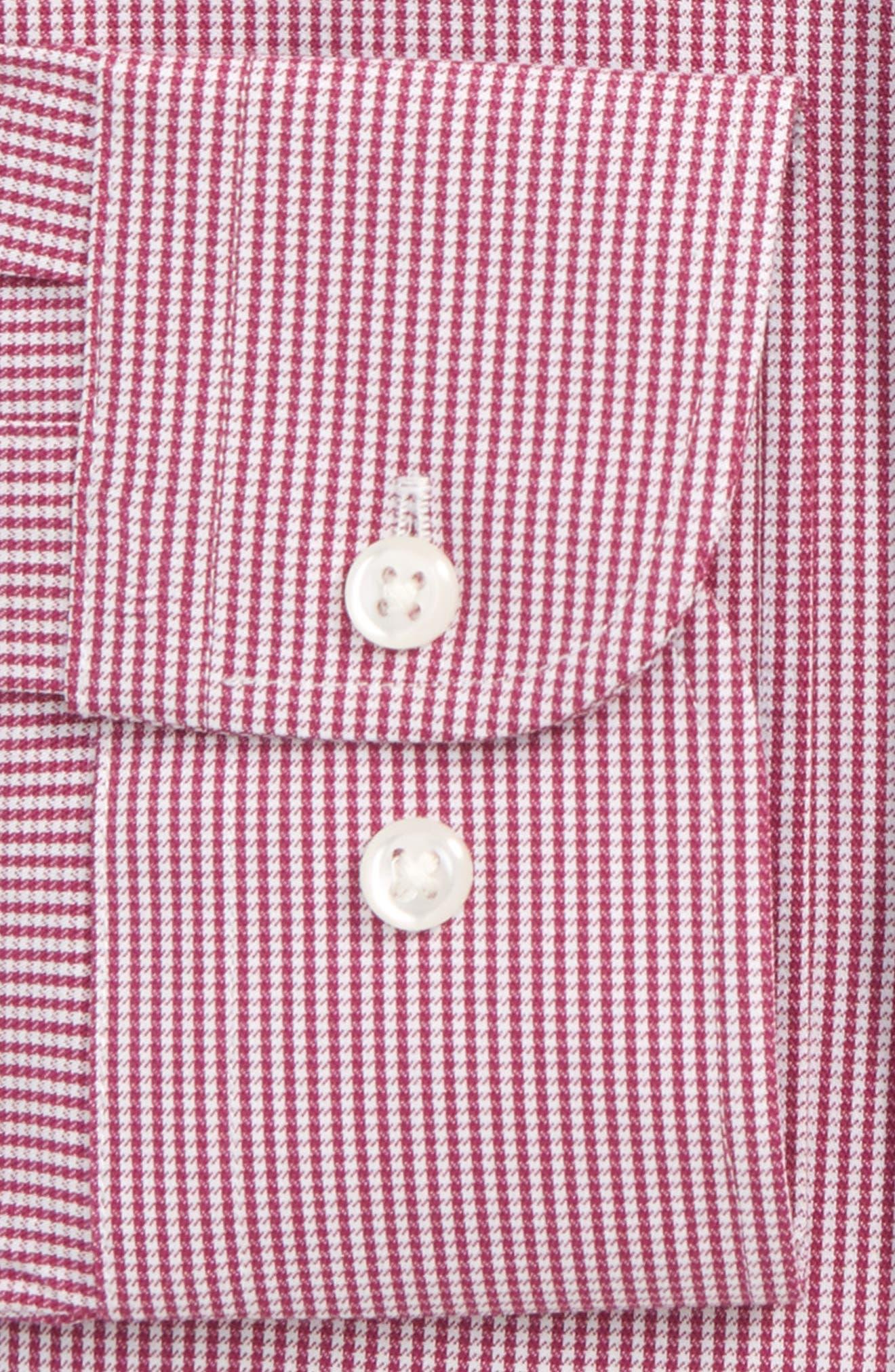 Tech-Smart Trim Fit Houndstooth Dress Shirt,                             Alternate thumbnail 12, color,