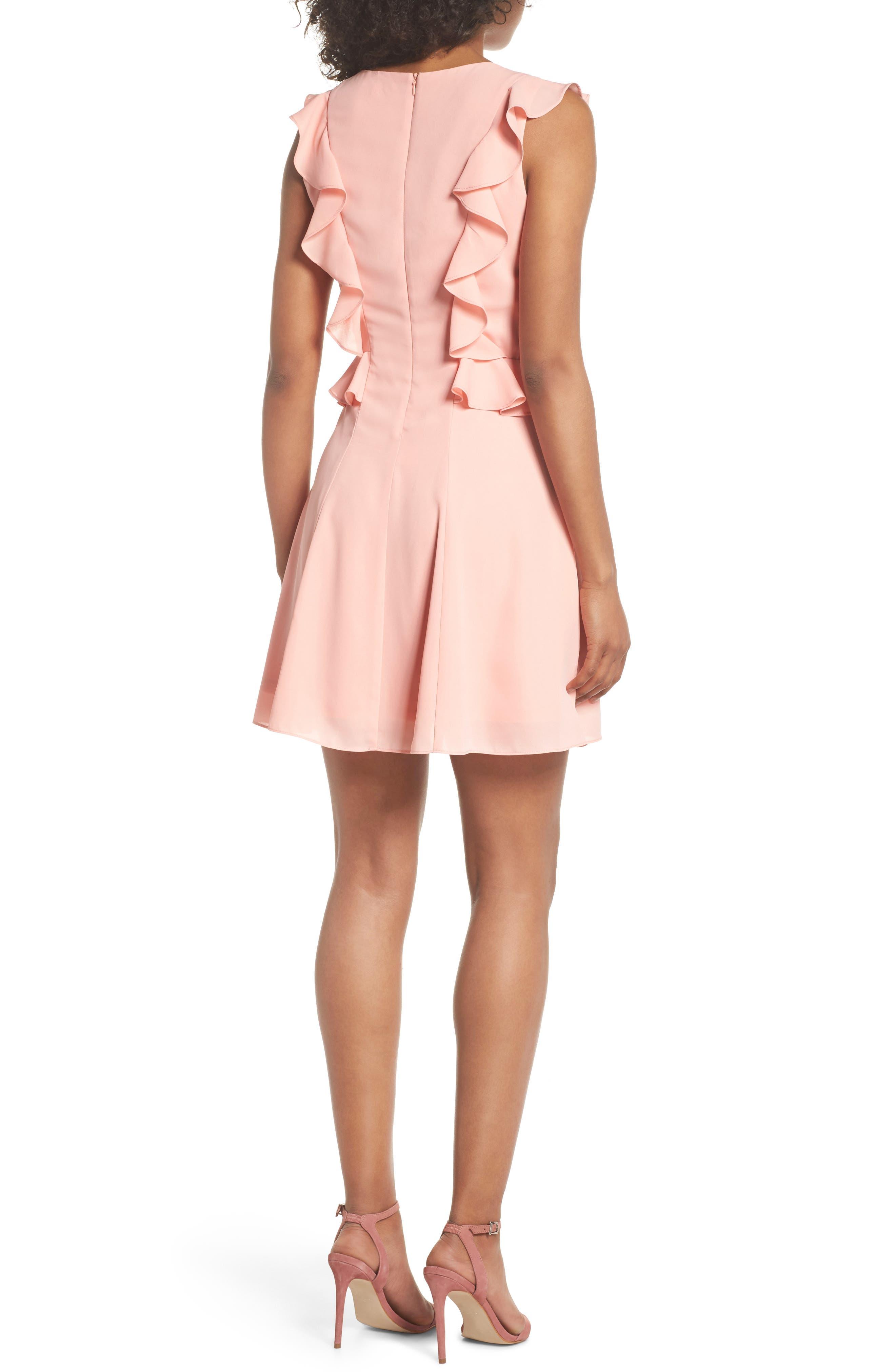 Lila Ruffle Trim Crepe Dress,                             Alternate thumbnail 2, color,                             650