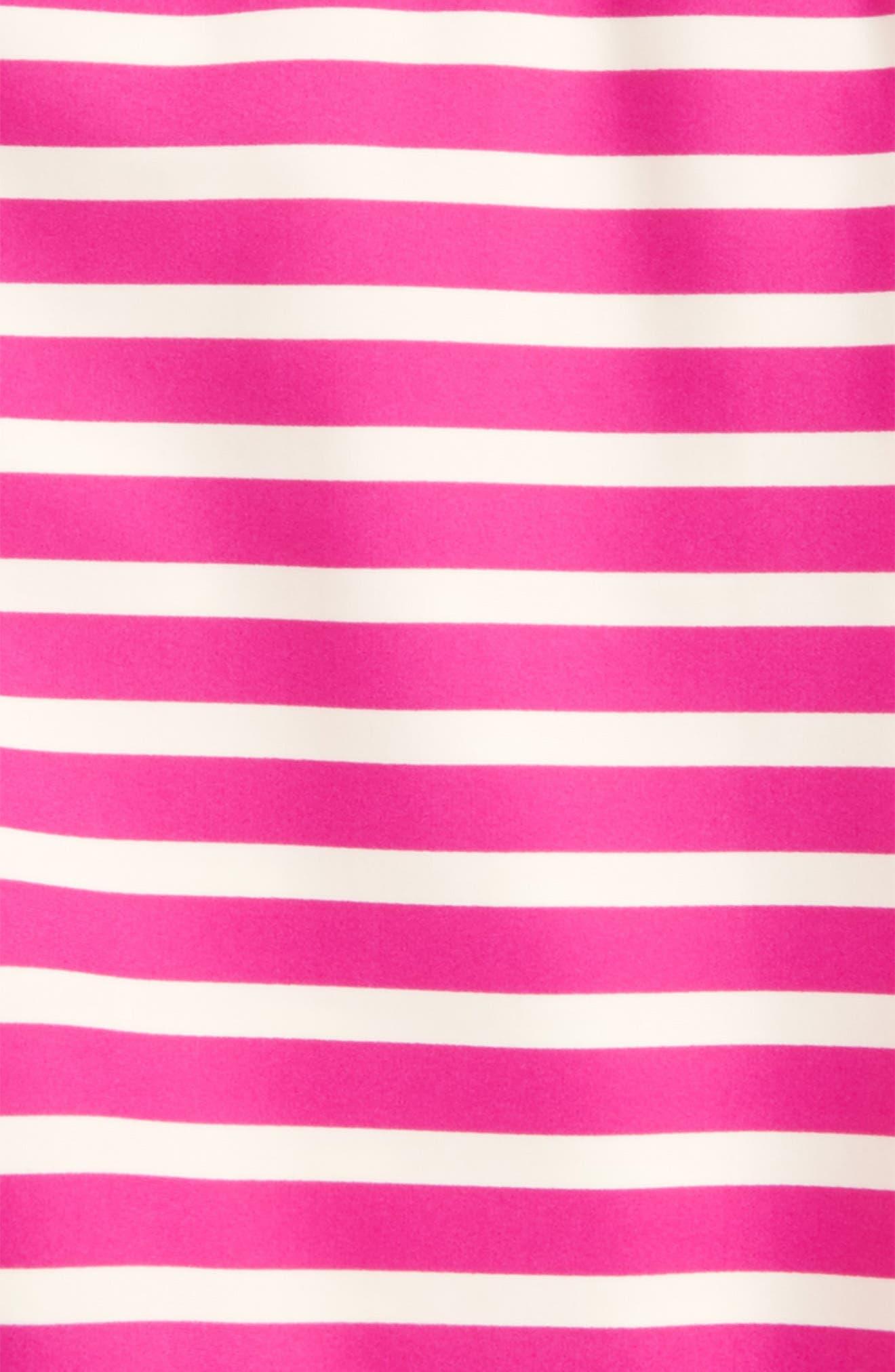 Stripe Short Sleeve Rashguard,                             Alternate thumbnail 4, color,