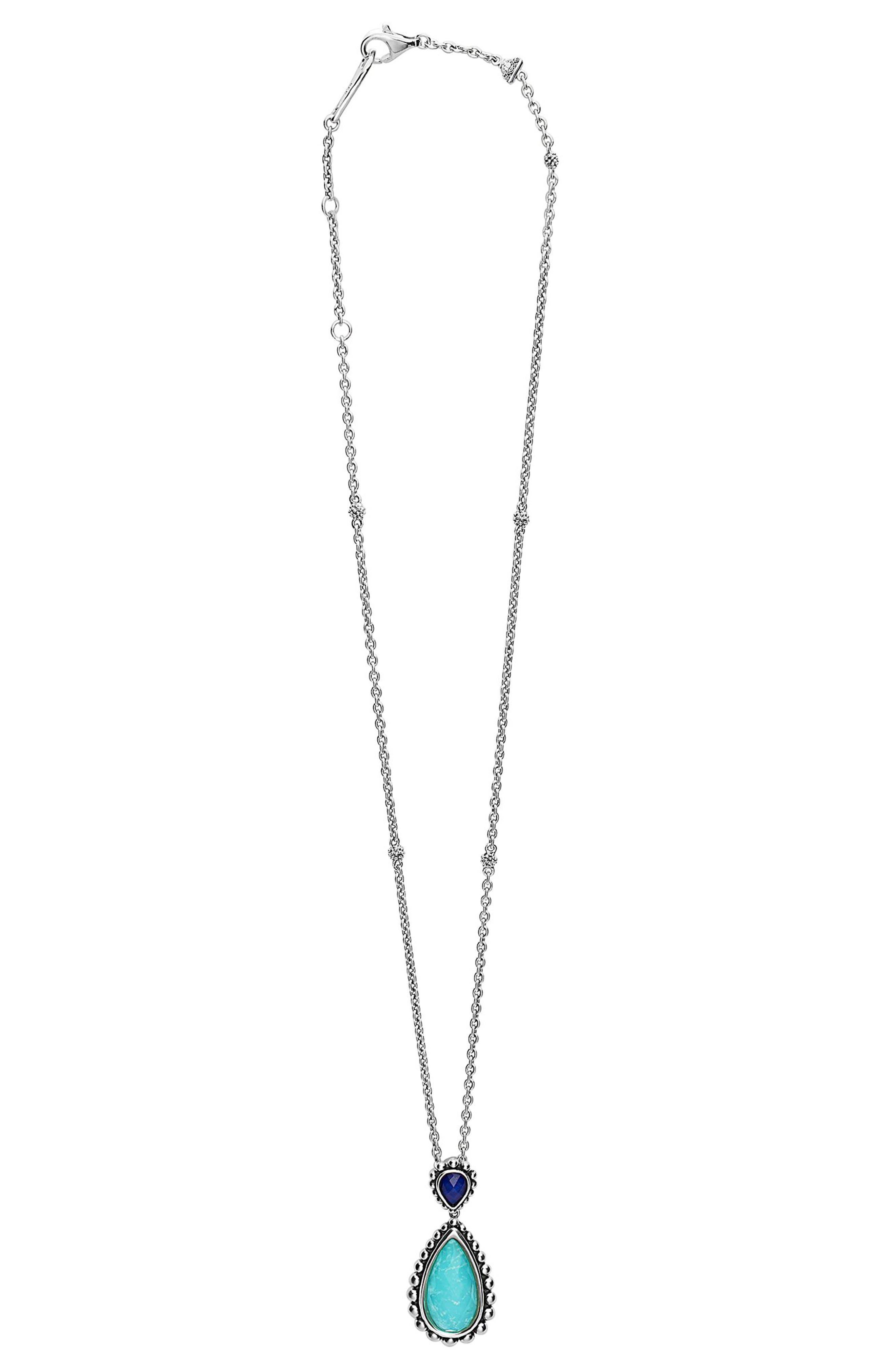 Maya Semiprecious Stone Pendant Necklace,                             Alternate thumbnail 6, color,
