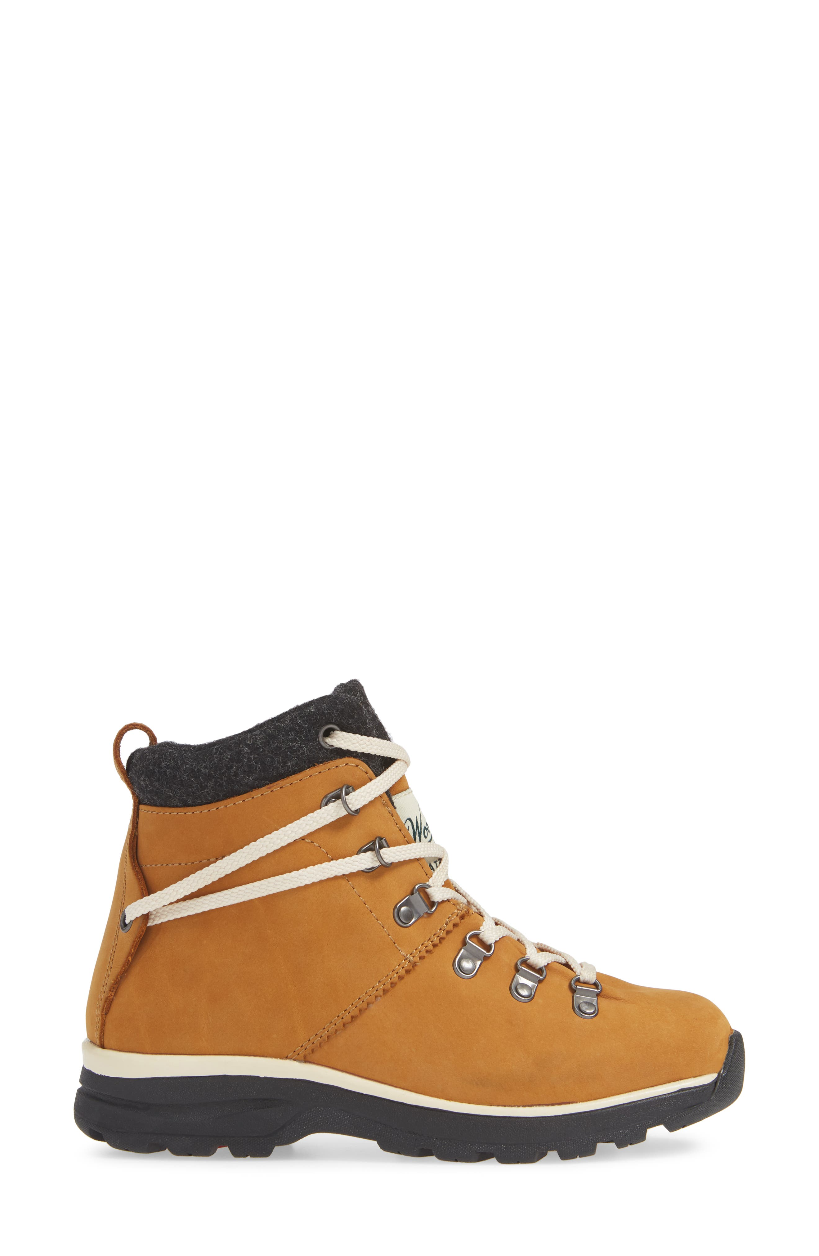 Rockies II Waterproof Hiking Boot,                             Alternate thumbnail 3, color,                             CONKER LEATHER