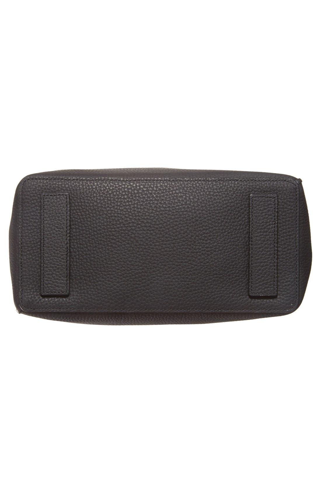 'Kita' Leather Shoulder/Crossbody Bag,                             Alternate thumbnail 6, color,                             BLACK