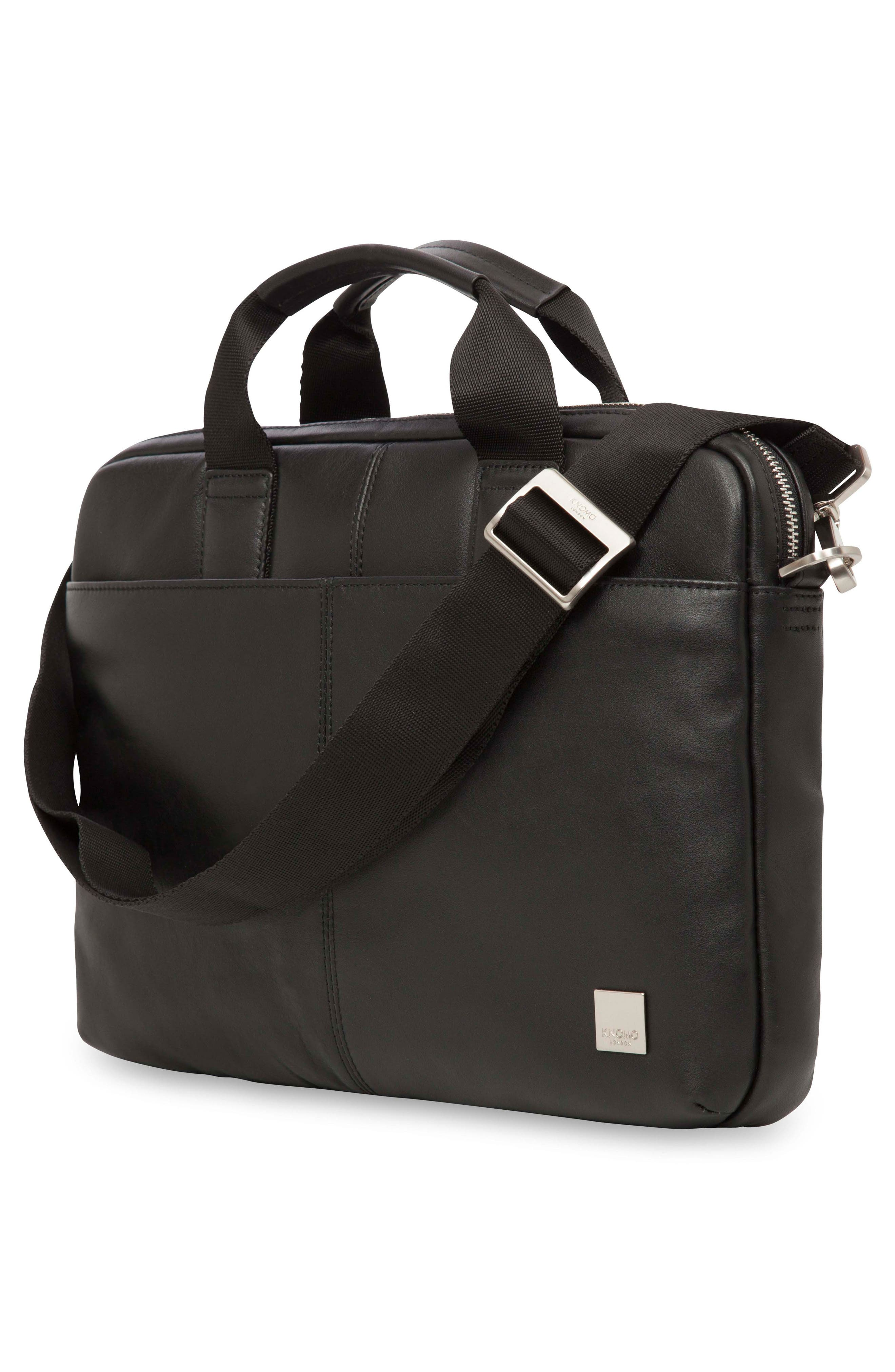 Brompton Stanford RFID Leather Briefcase,                             Alternate thumbnail 4, color,                             001