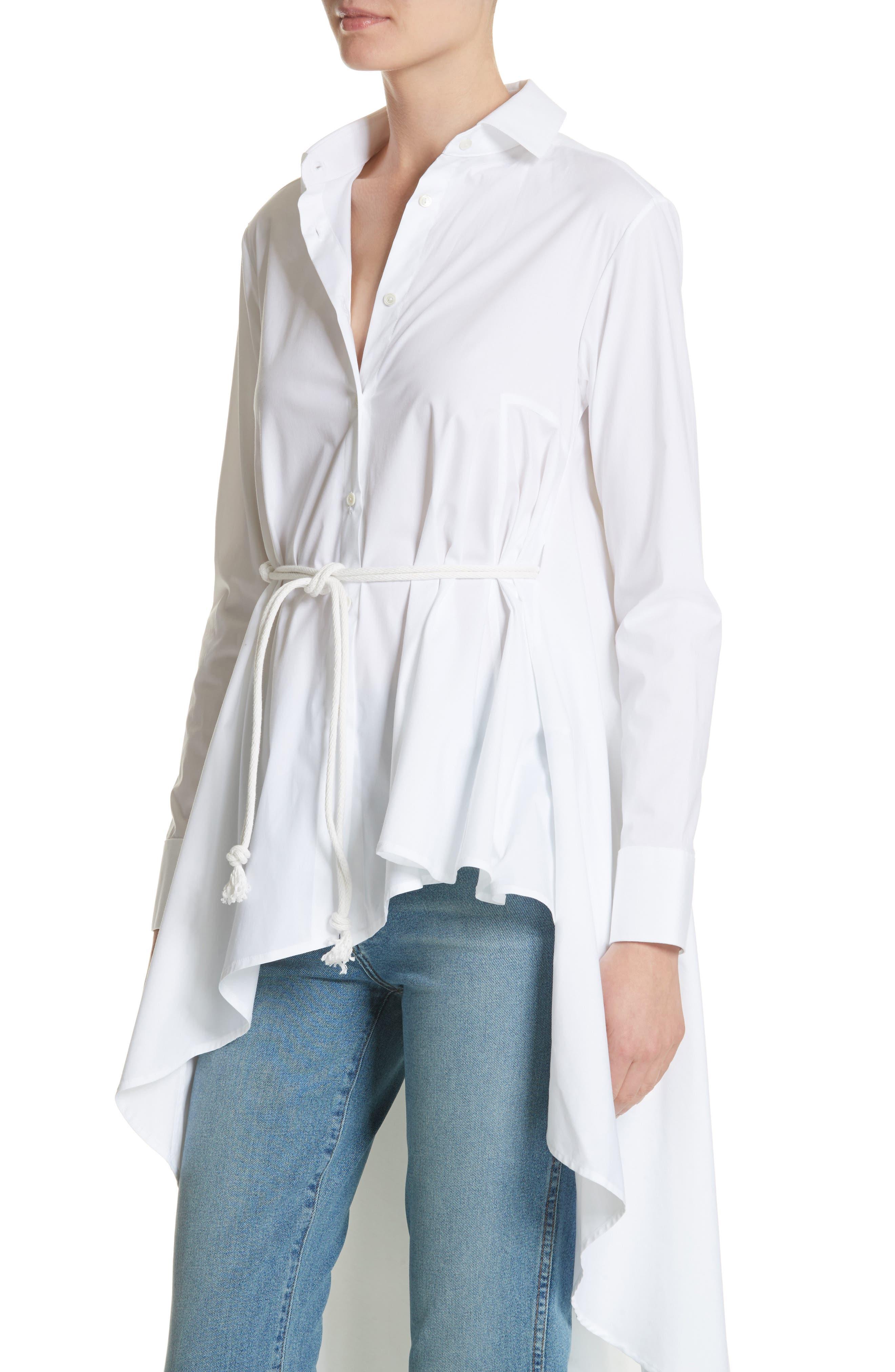 Long Super Shirt,                             Alternate thumbnail 4, color,                             WHITE